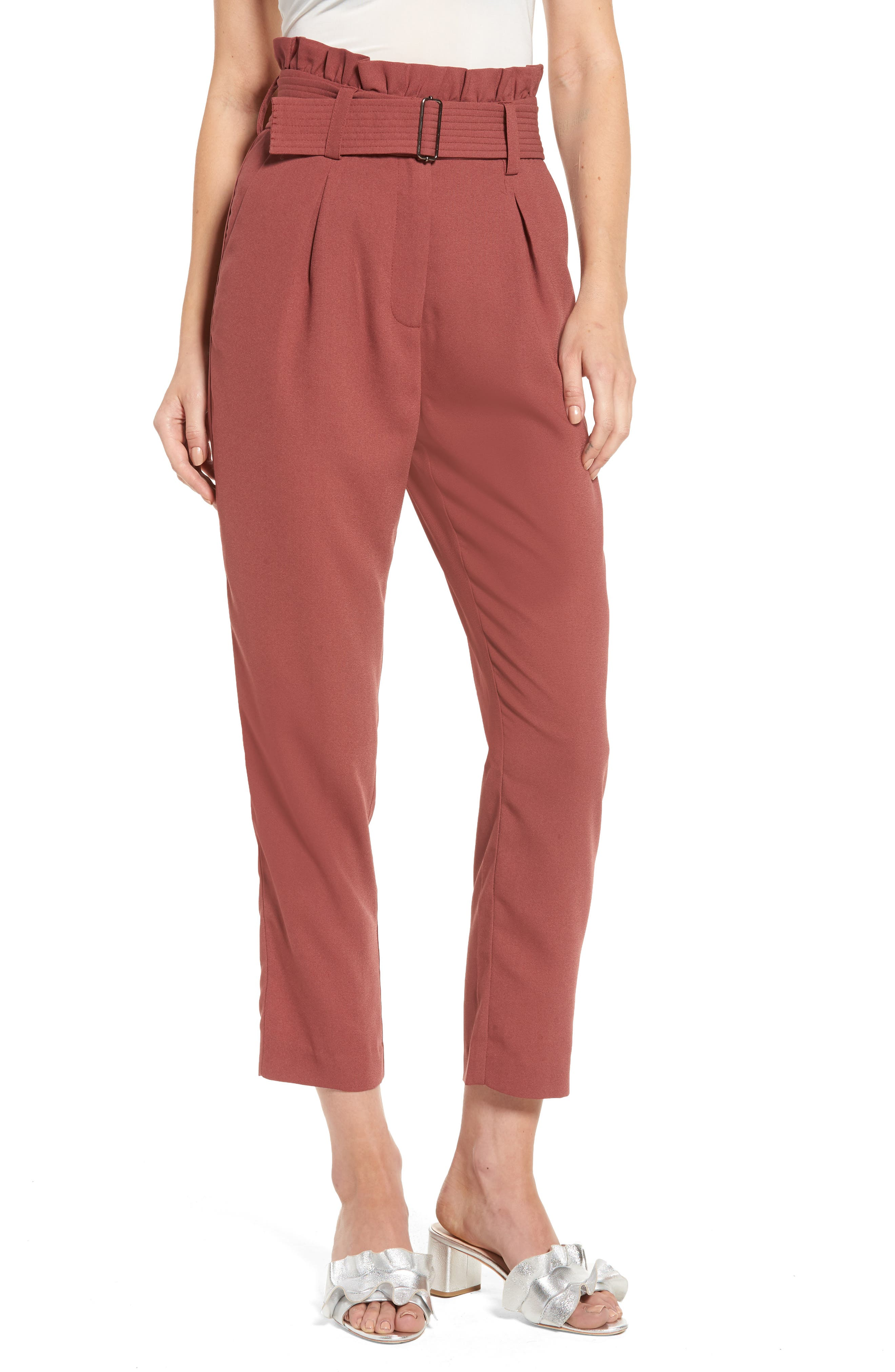 MOON RIVER Paper Bag Waist Trousers