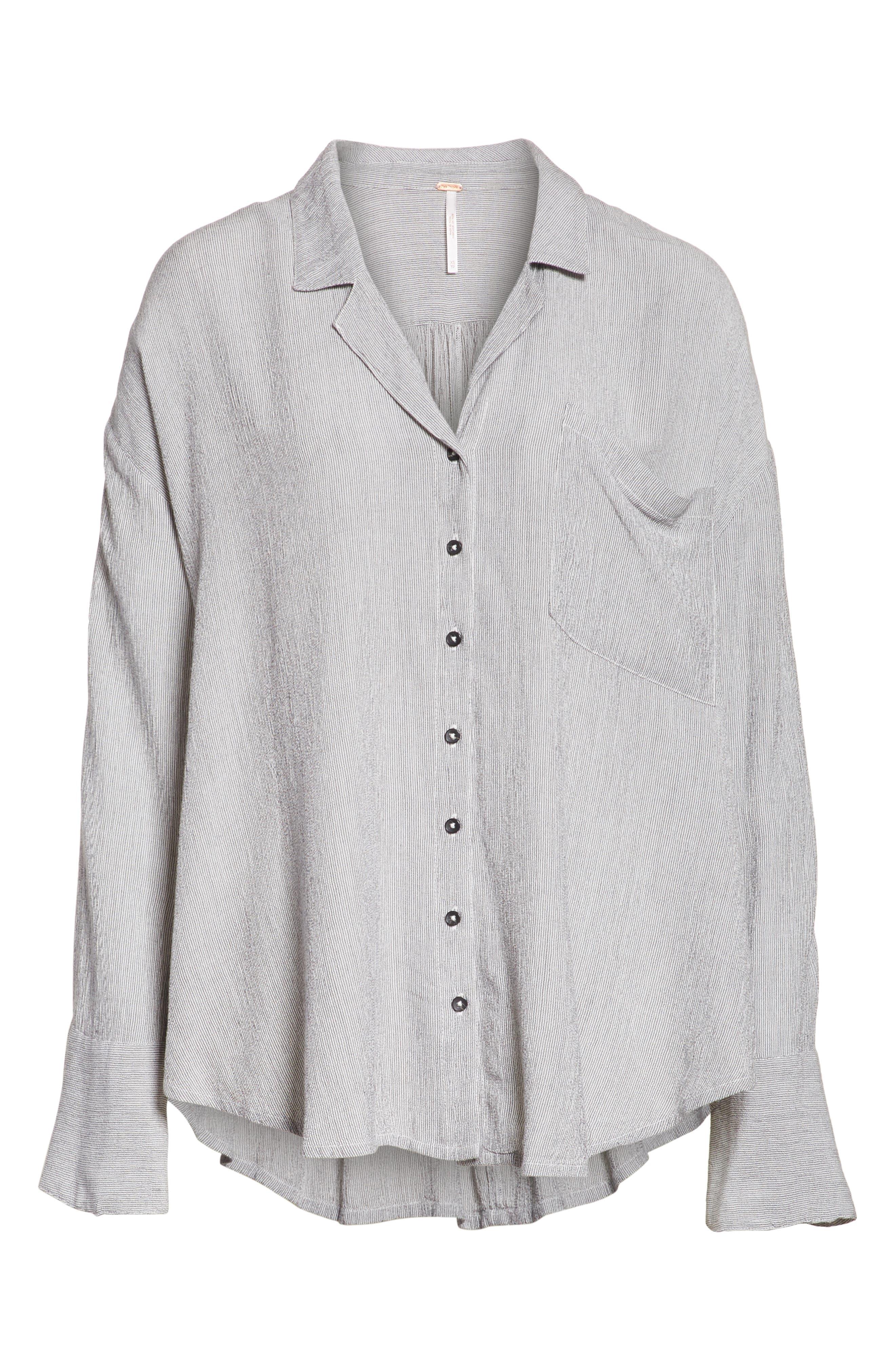 Magic Breeze Shirt,                             Alternate thumbnail 6, color,                             Black