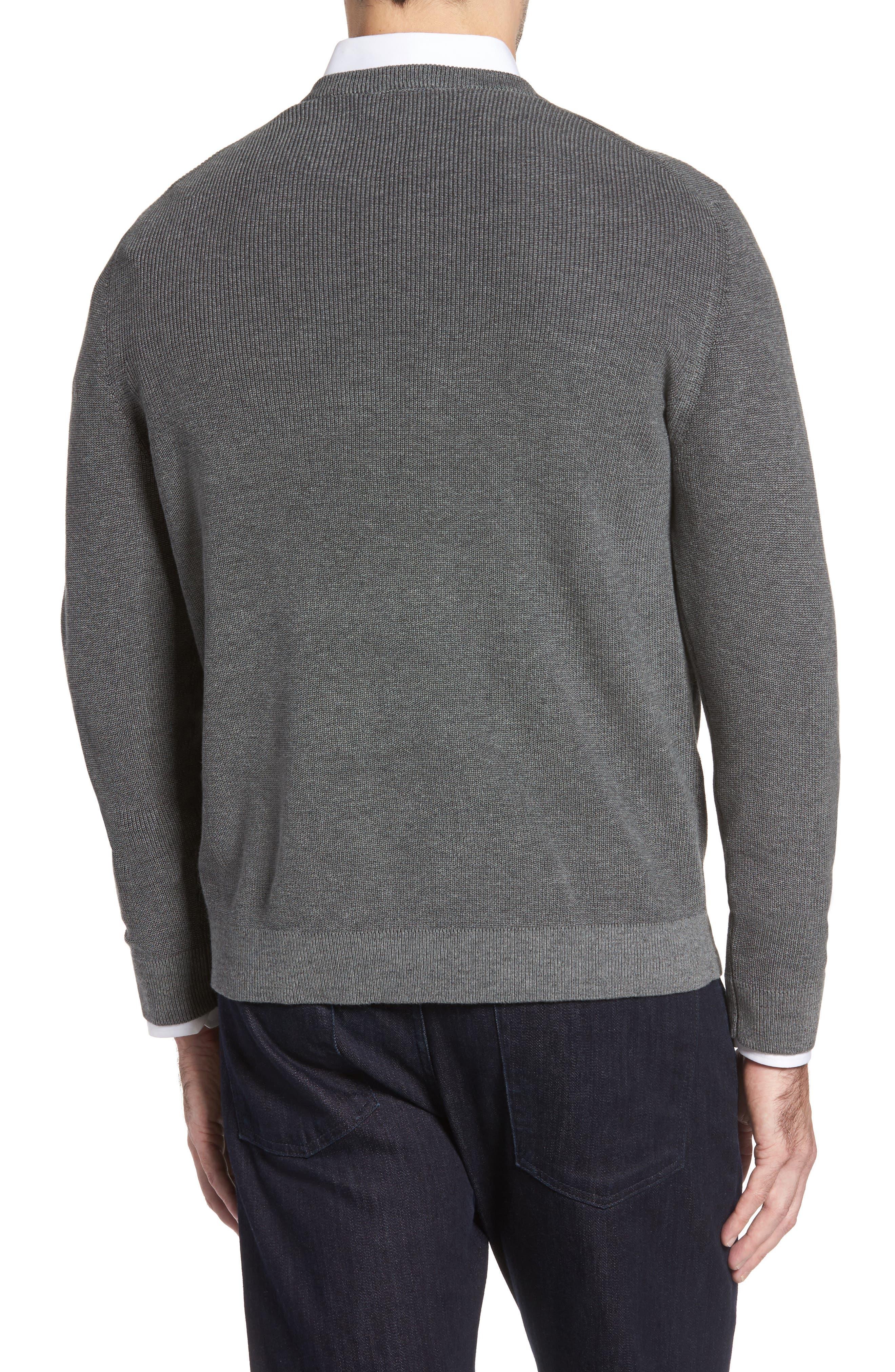 Las Palmas Reversible Sweater,                             Alternate thumbnail 2, color,                             Charcoal Heather