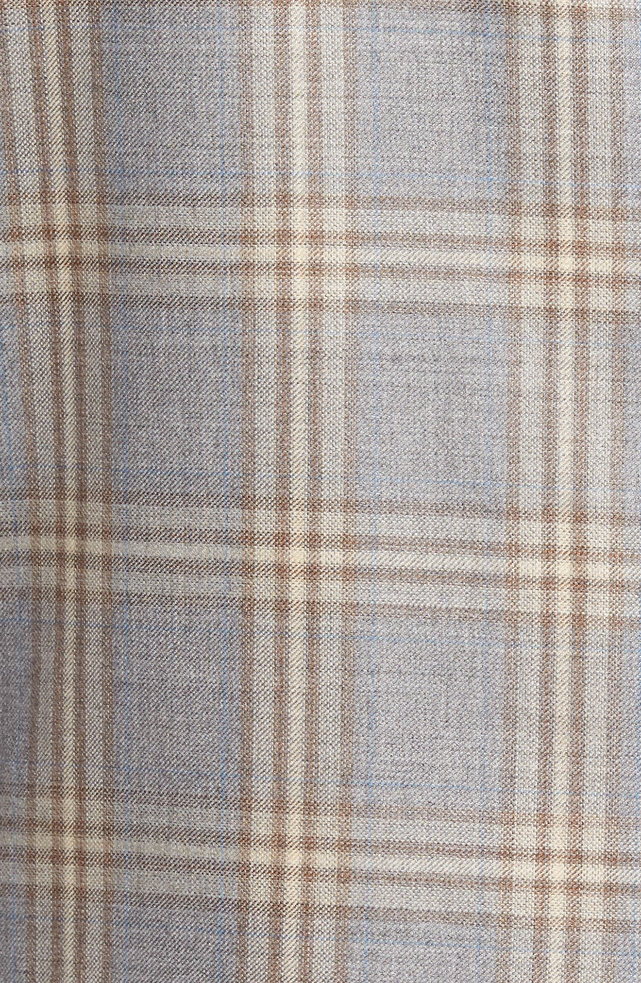 Flynn Classic Fit Plaid Wool Sport Coat,                             Alternate thumbnail 5, color,                             Grey