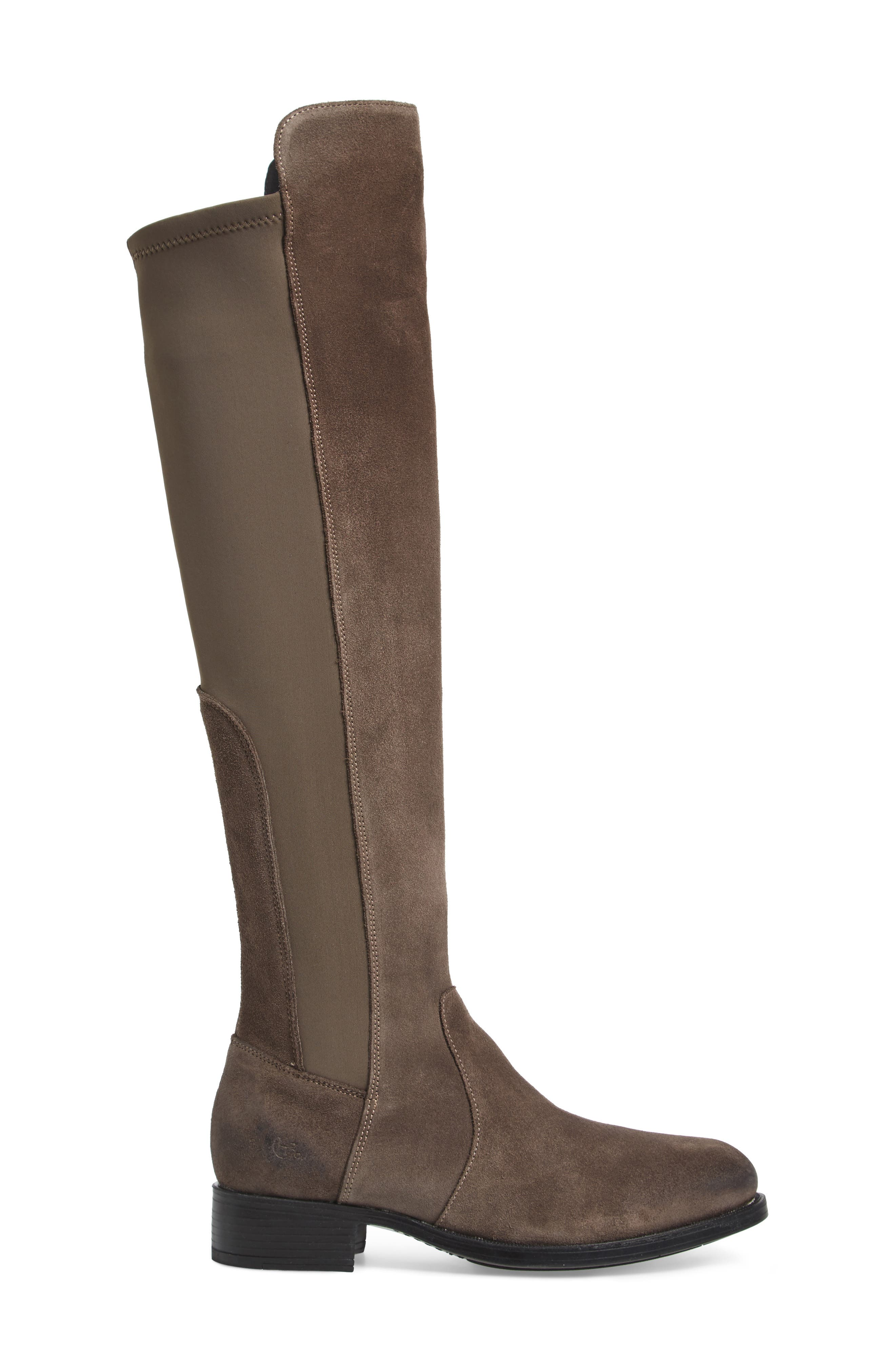 Bunt Waterproof Over the Knee Boot,                             Alternate thumbnail 3, color,                             Elephant Suede Leather