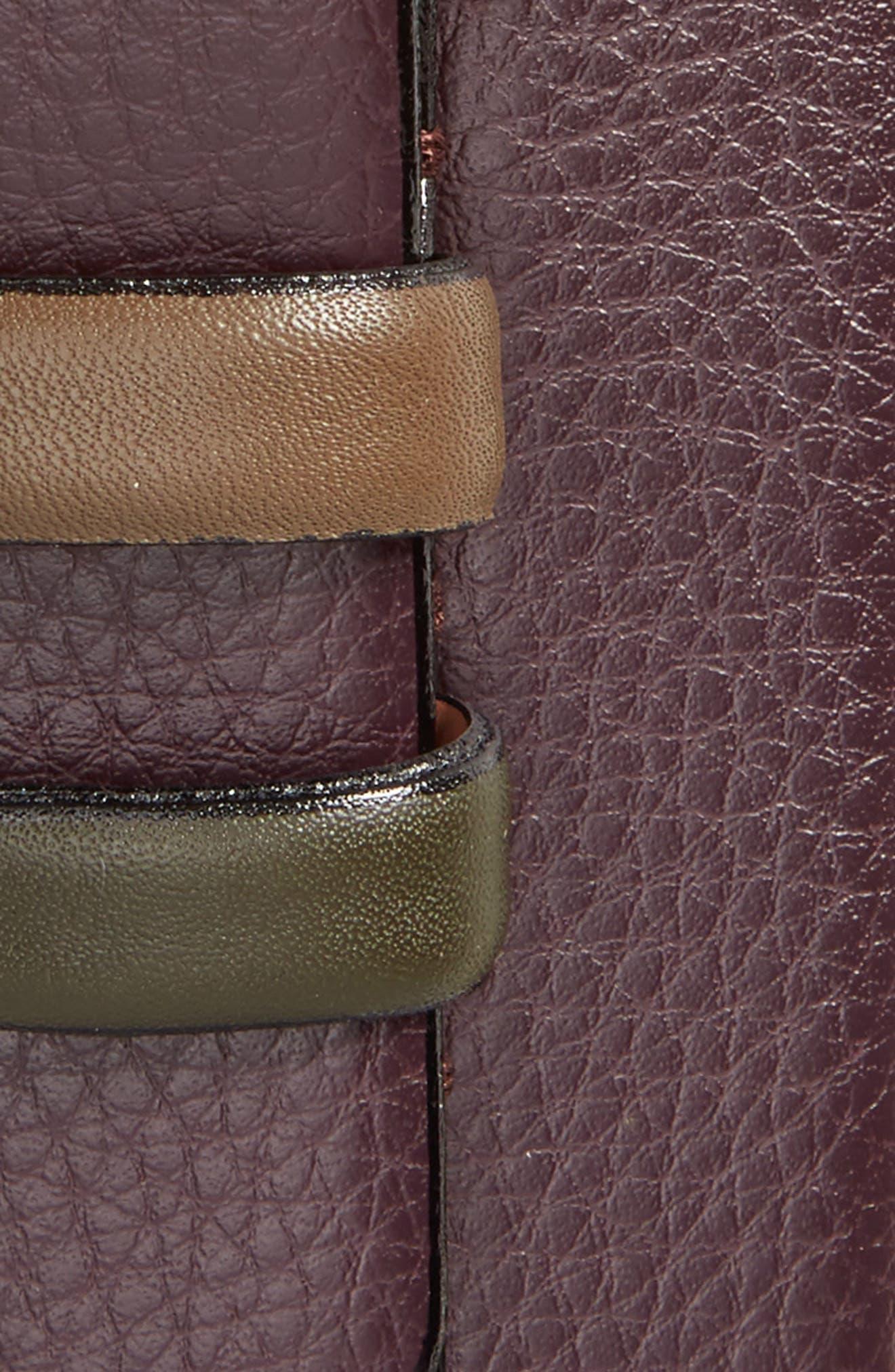 Shrubs Leather Belt,                             Alternate thumbnail 2, color,                             Deep Purple
