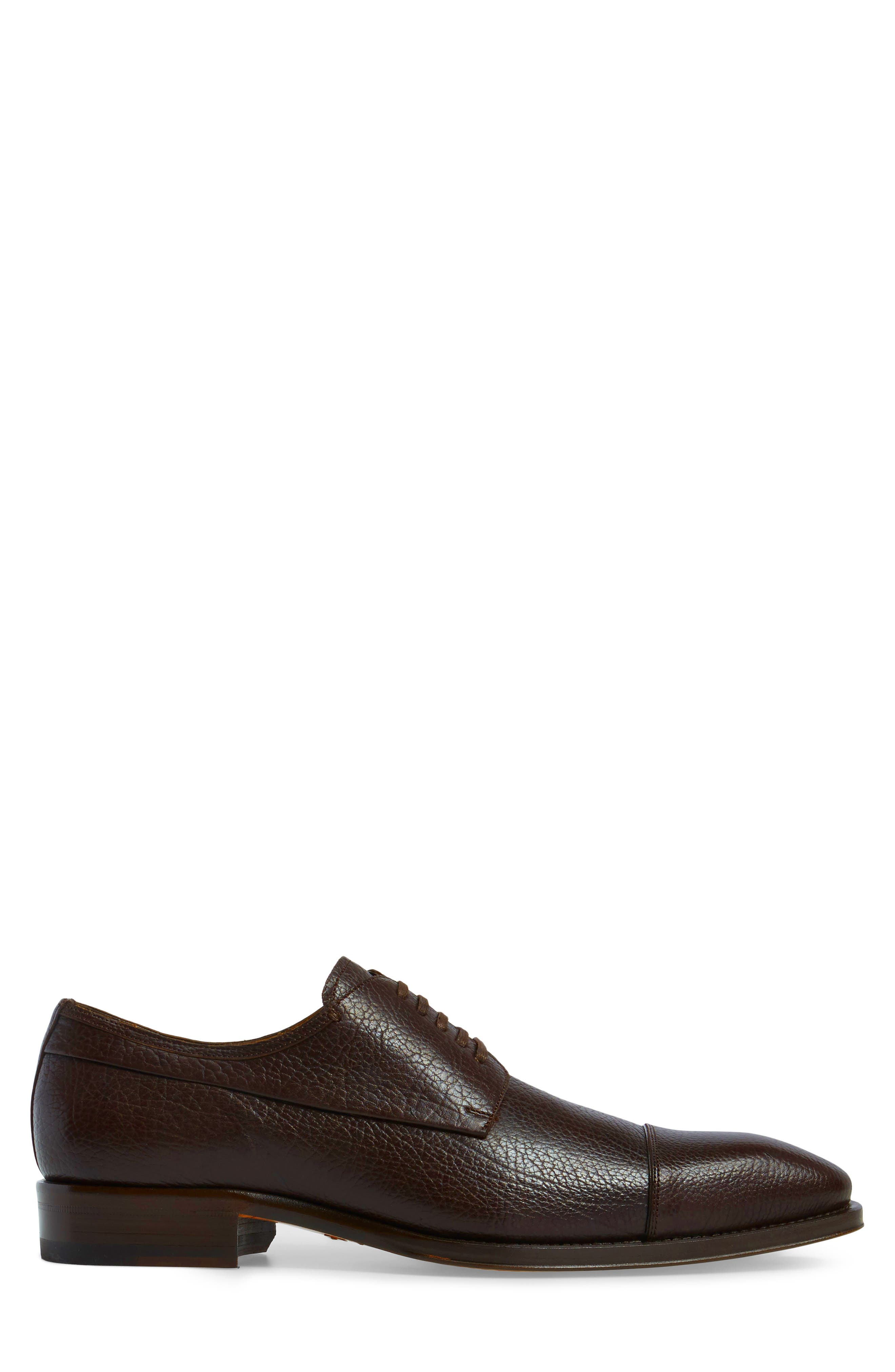 Pulpi Cap Toe Derby,                             Alternate thumbnail 3, color,                             Brown Leather