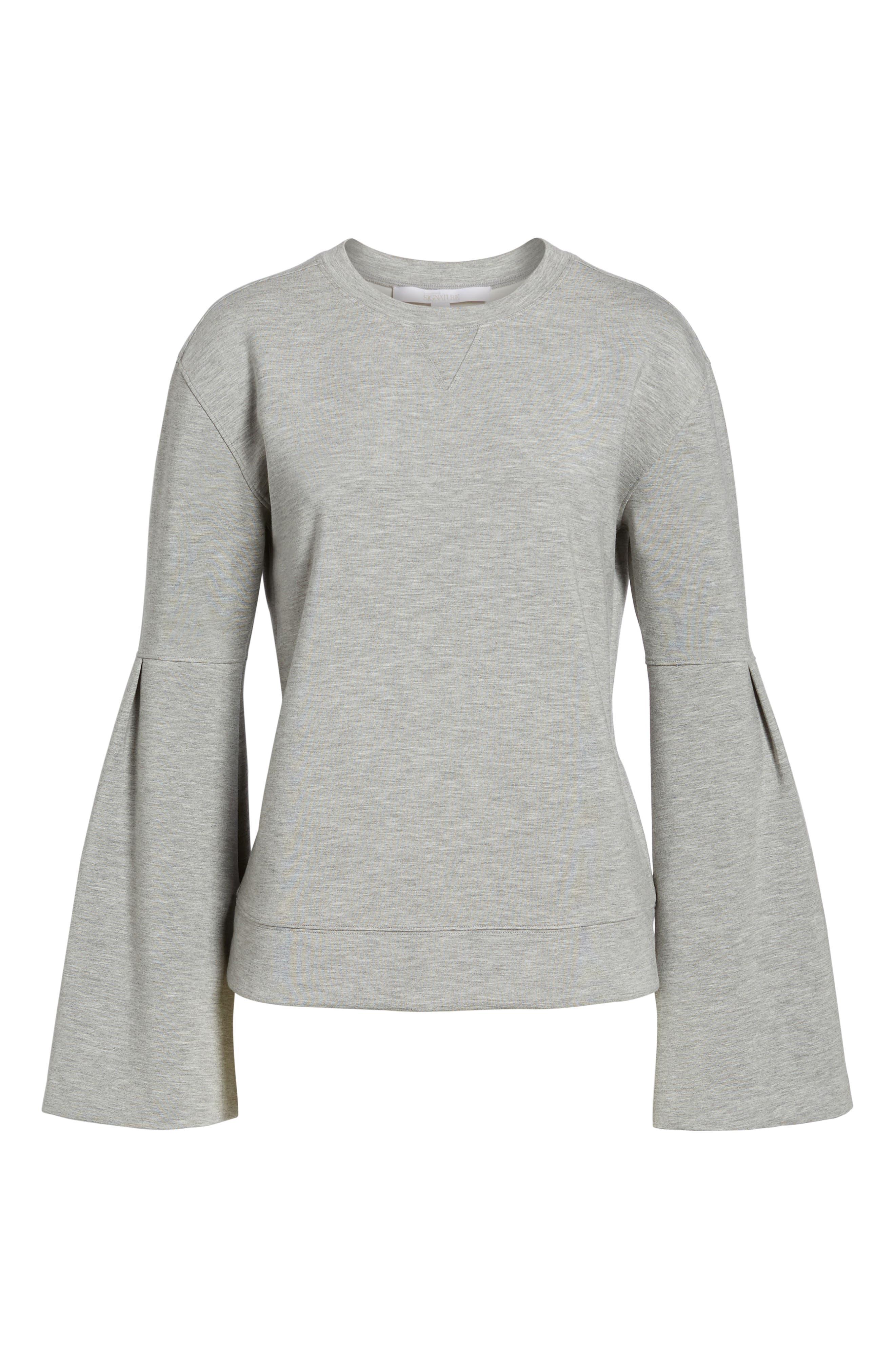 Alternate Image 6  - Nordstrom Signature Bell Sleeve Sweatshirt