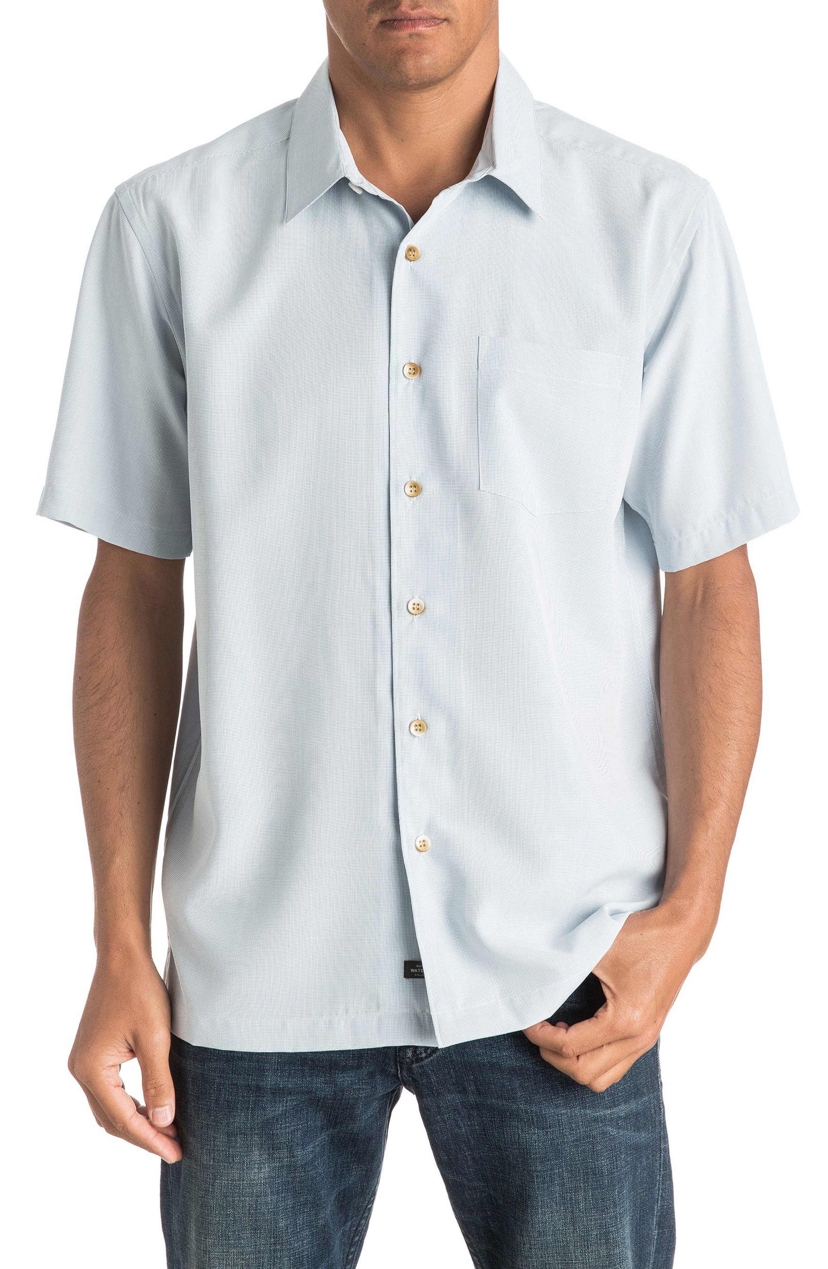 Alternate Image 1 Selected - Quiksilver Waterman Collection 'Cane Island' Regular Fit Short Sleeve Sport Shirt