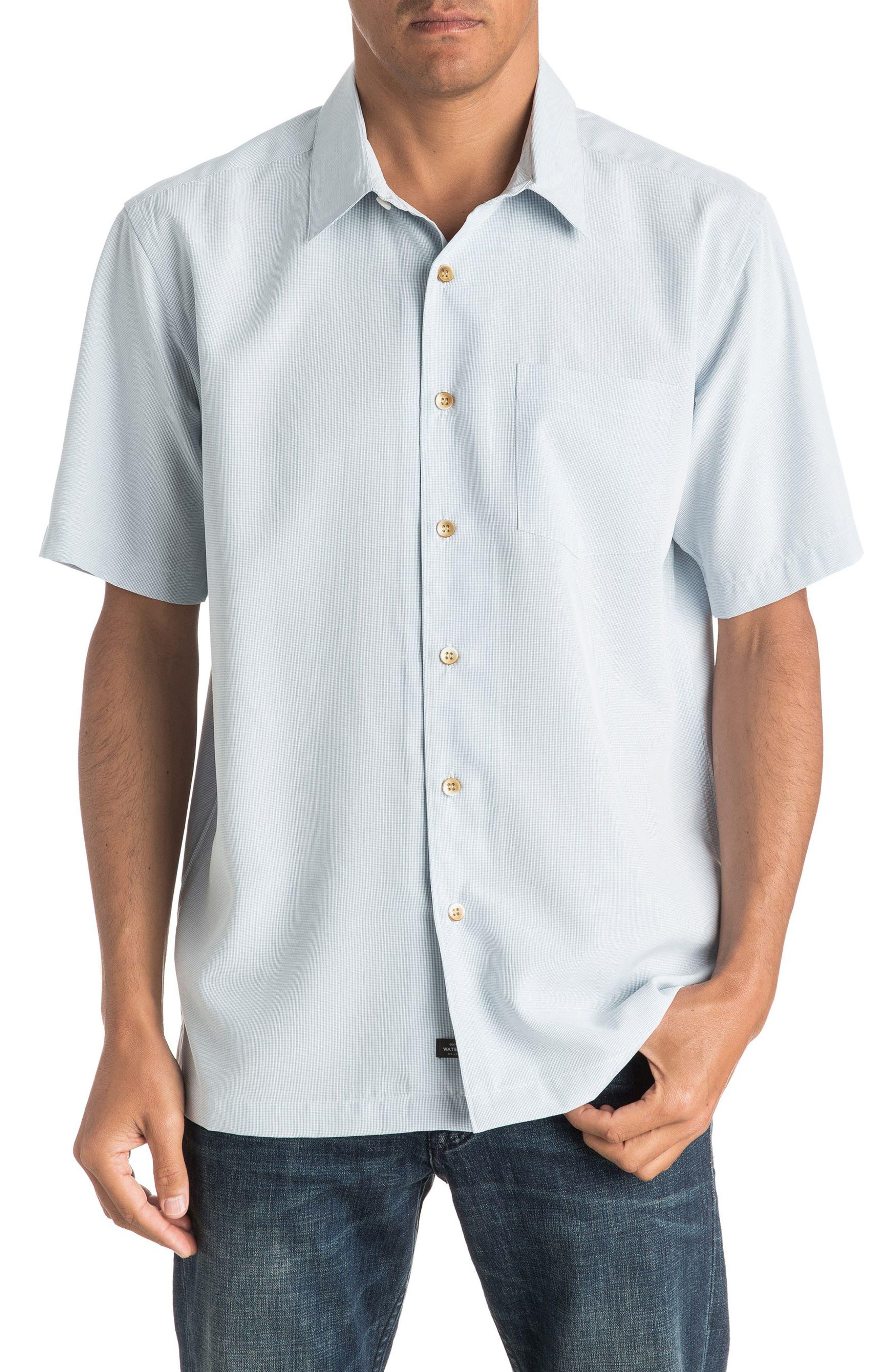 Main Image - Quiksilver Waterman Collection 'Cane Island' Regular Fit Short Sleeve Sport Shirt
