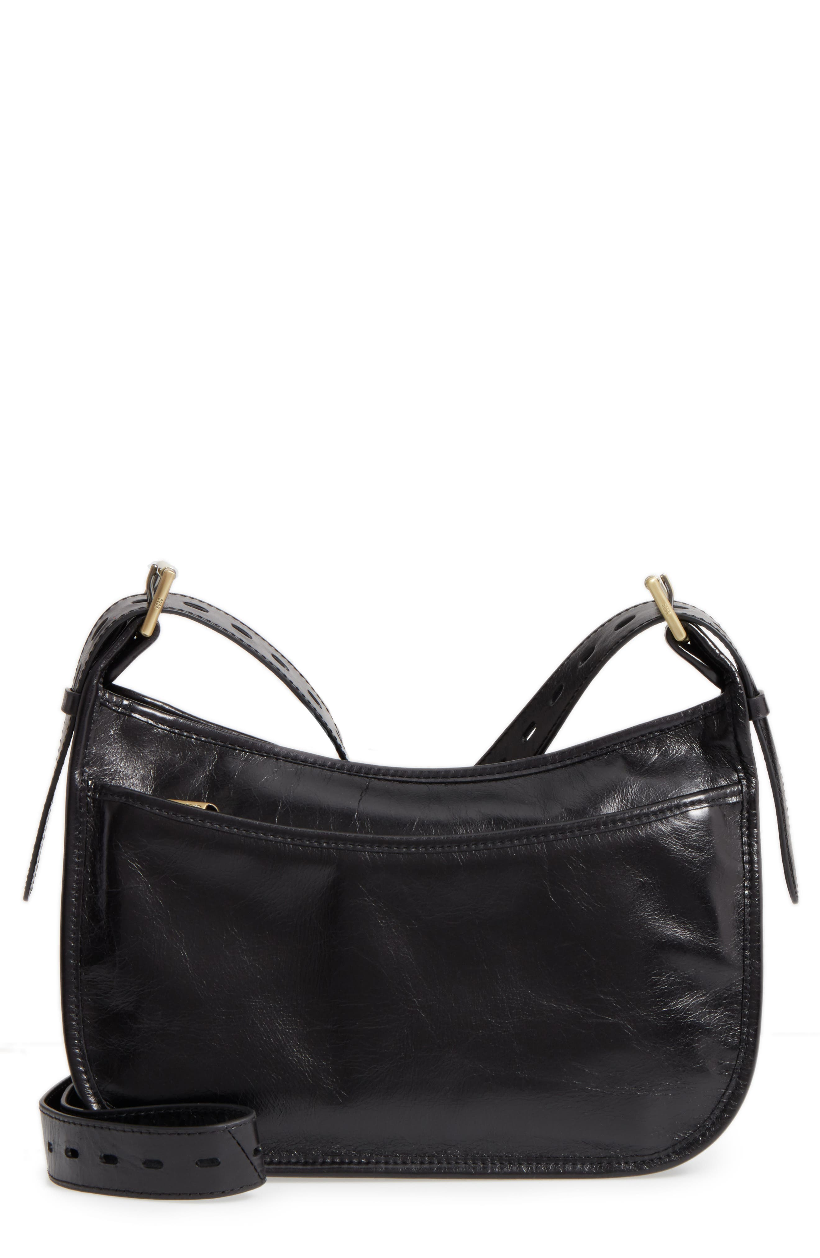 Chase Calfskin Leather Crossbody Bag,                         Main,                         color, Black