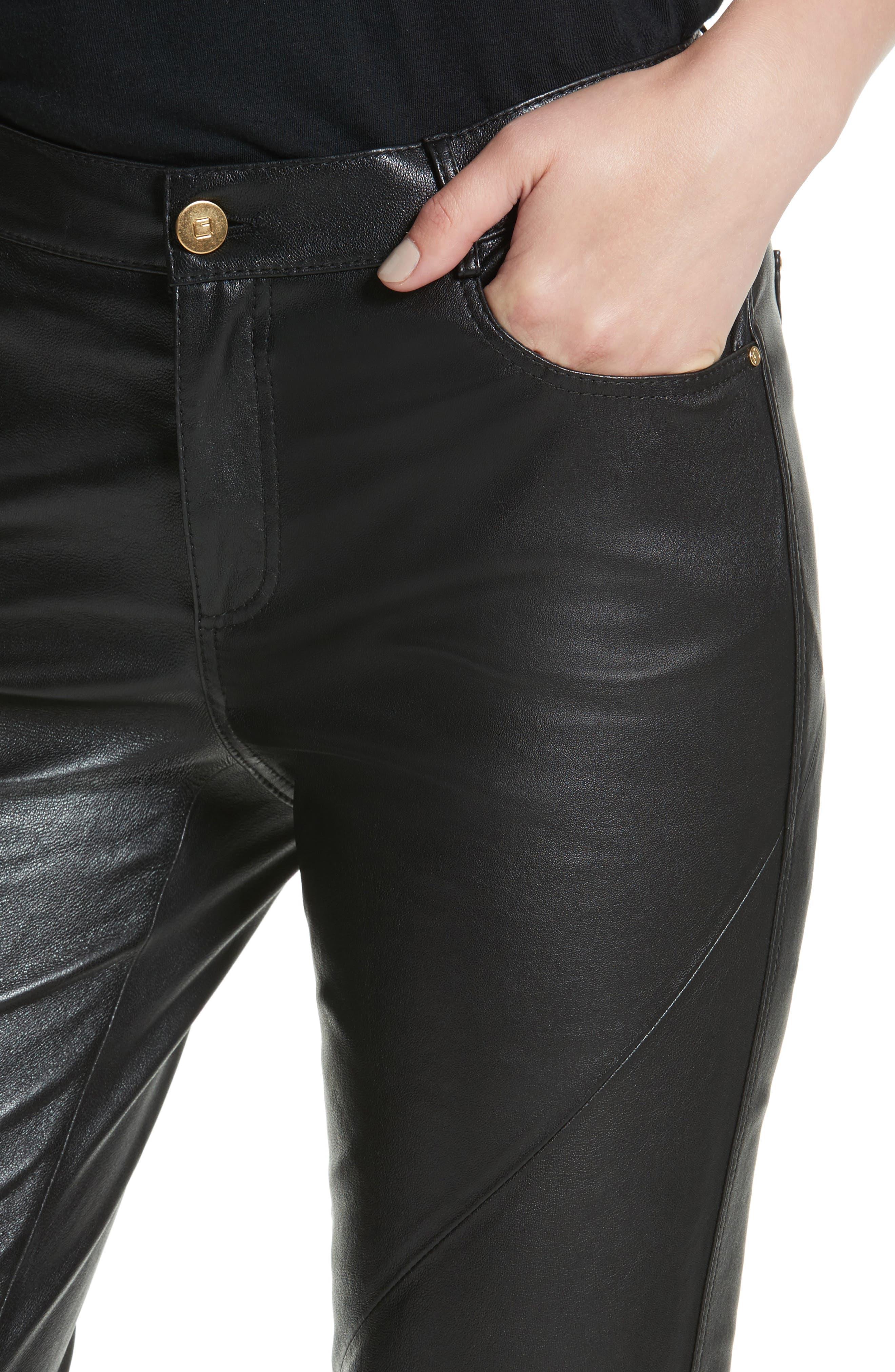 Alternate Image 4  - Lafayette 148 New York Mercer Nappa Leather Pants