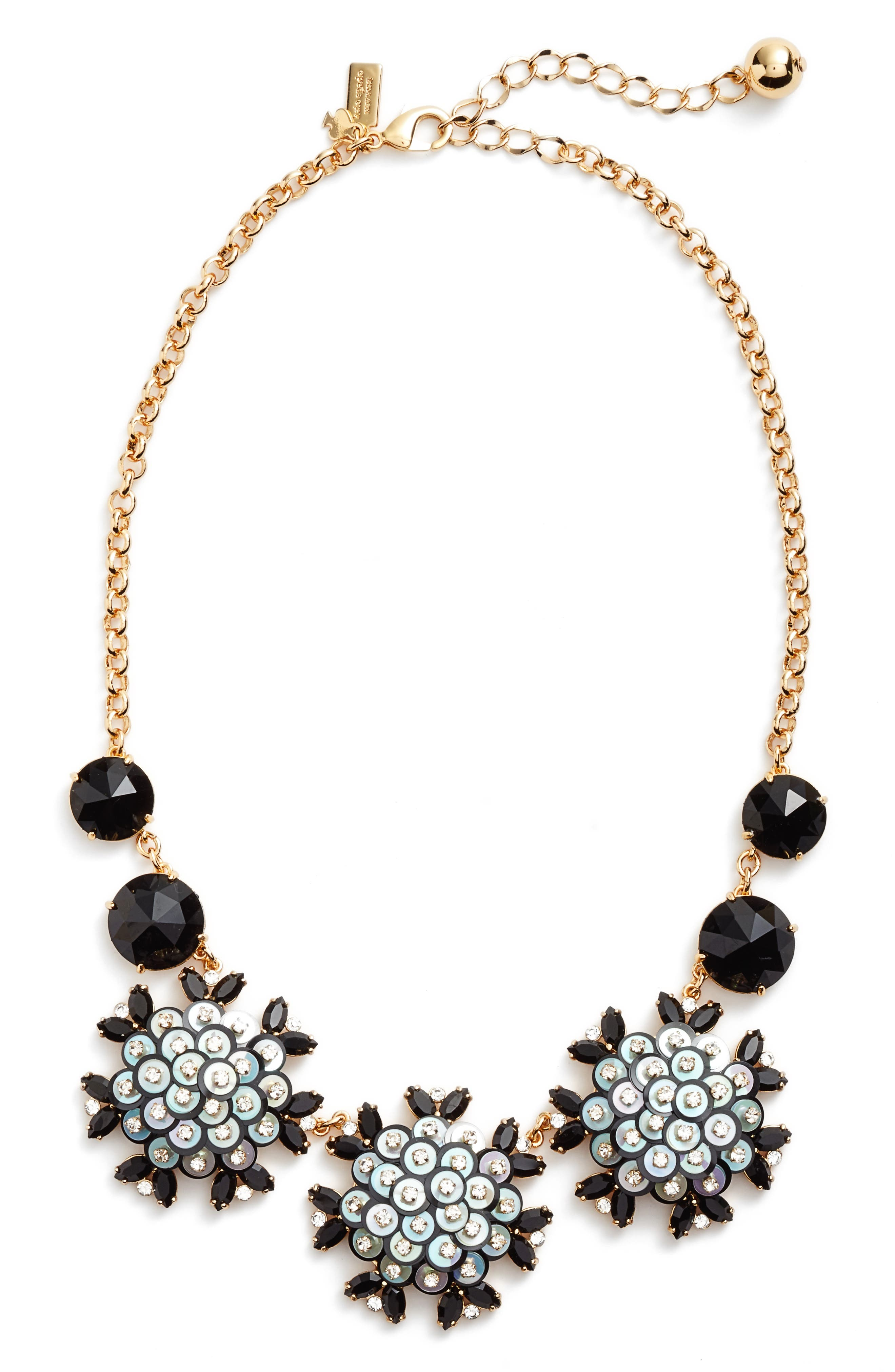be bold statement collar necklace,                         Main,                         color, Black Multi