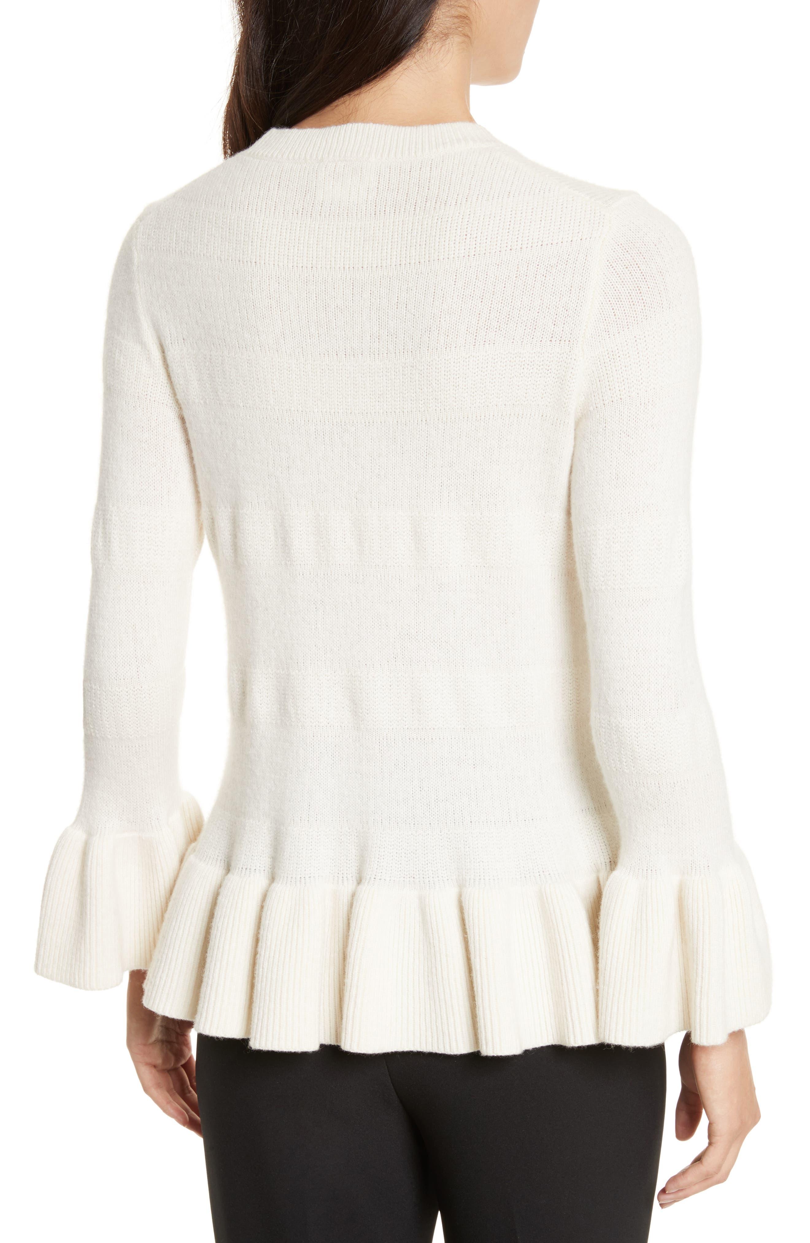 Alternate Image 2  - kate spade new york bell cuff textured sweater