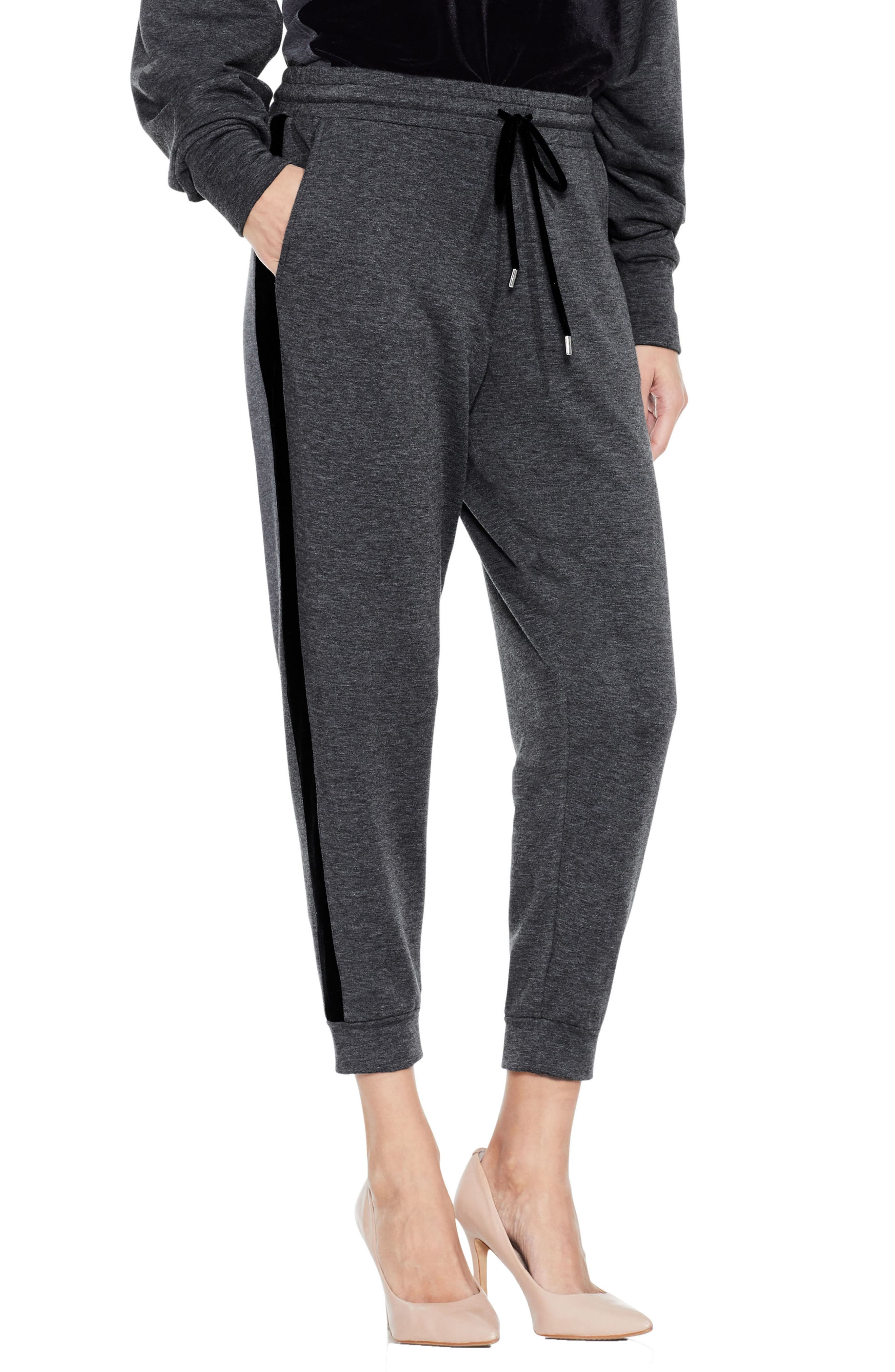 Two by Vince Camuto Velvet Stripe Jogger Pants