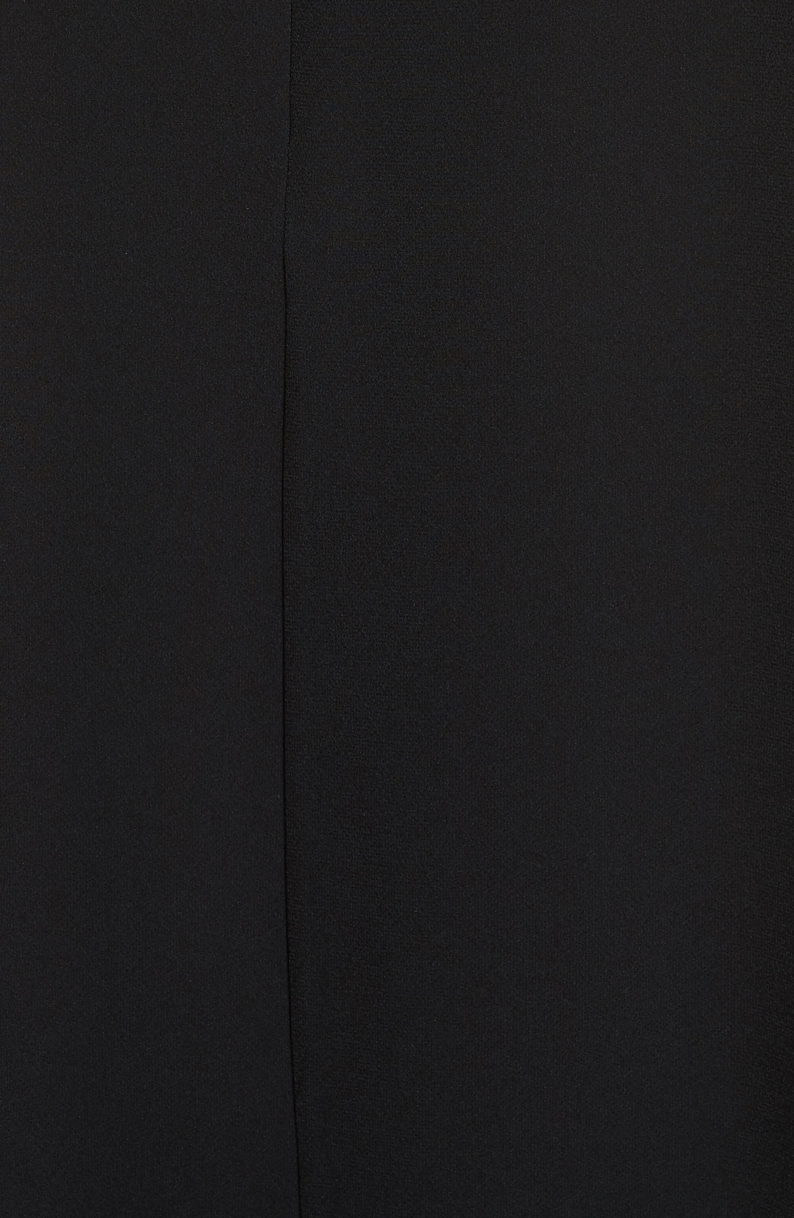 Raglan Sleeve Peasant Dress,                             Alternate thumbnail 6, color,                             Black