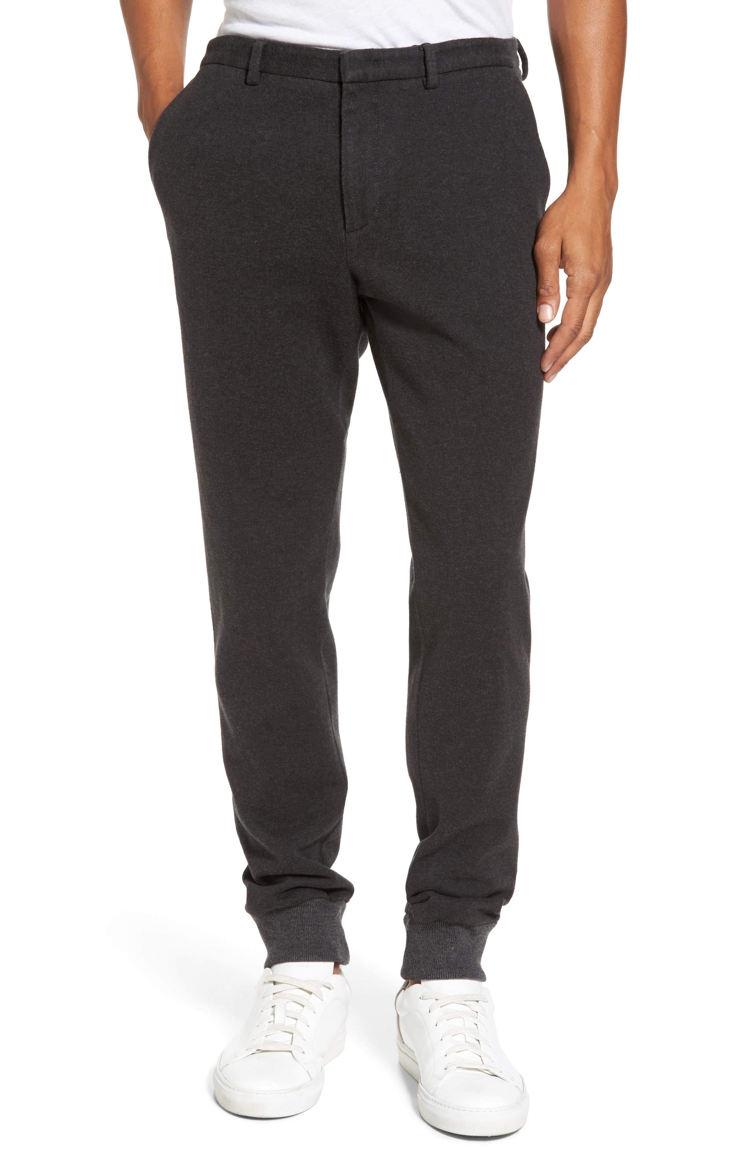 Slim Fit Jersey Jogger Pants,                         Main,                         color, Charcoal