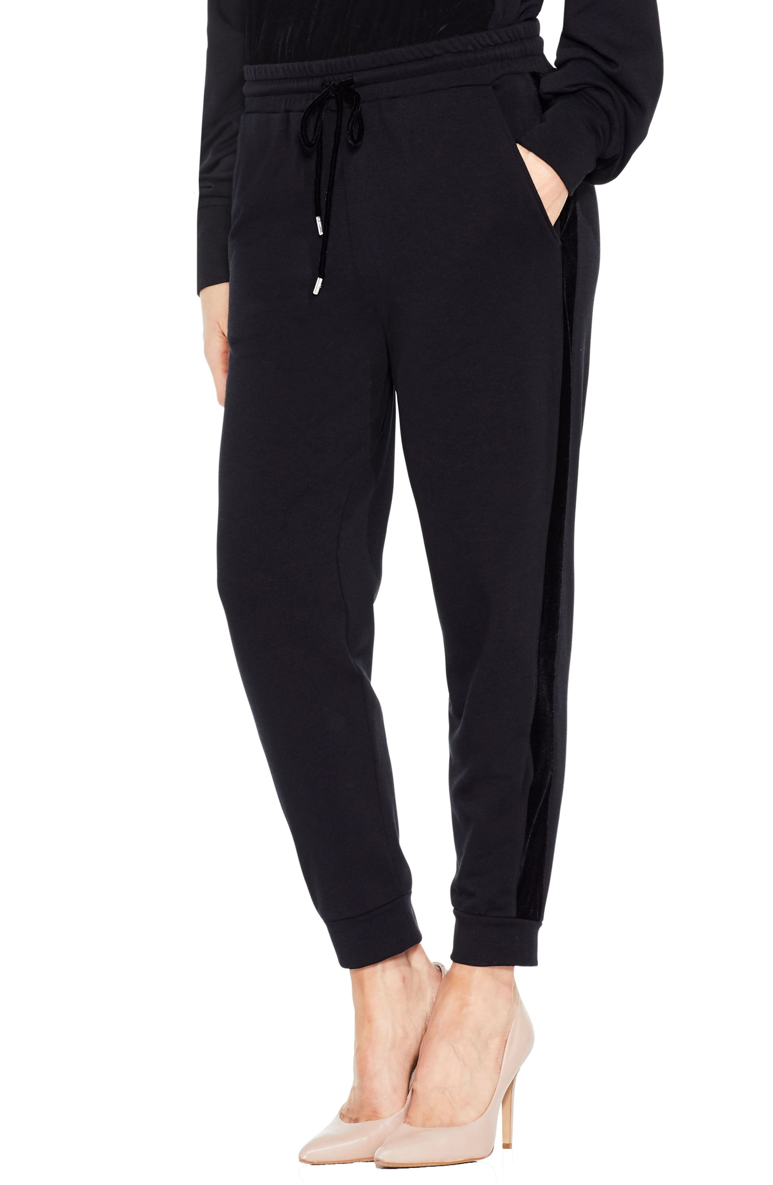 Alternate Image 1 Selected - Two by Vince Camuto Velvet Stripe Jogger Pants