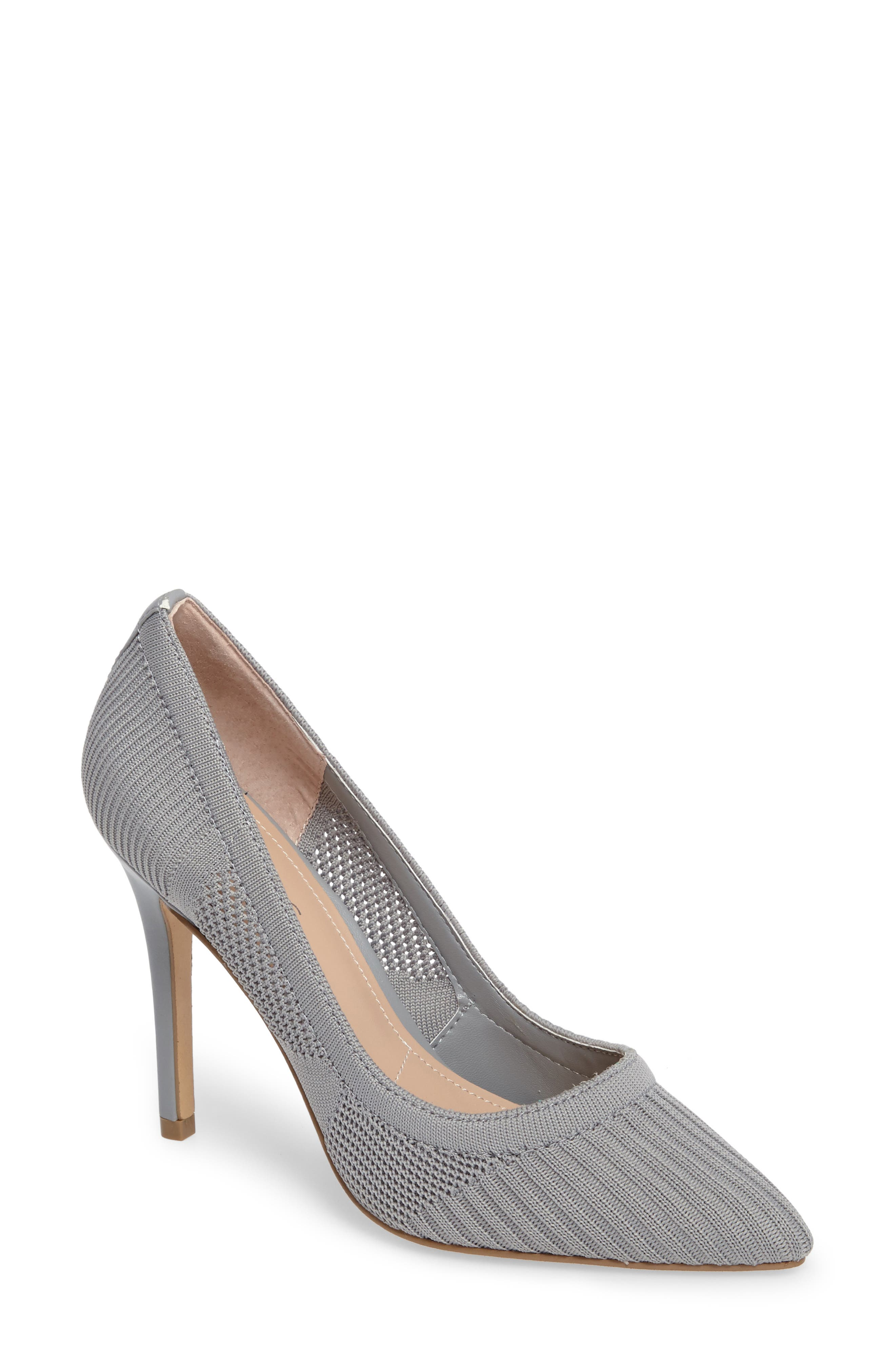Pacey Knit Pump,                         Main,                         color, Slate Stretch
