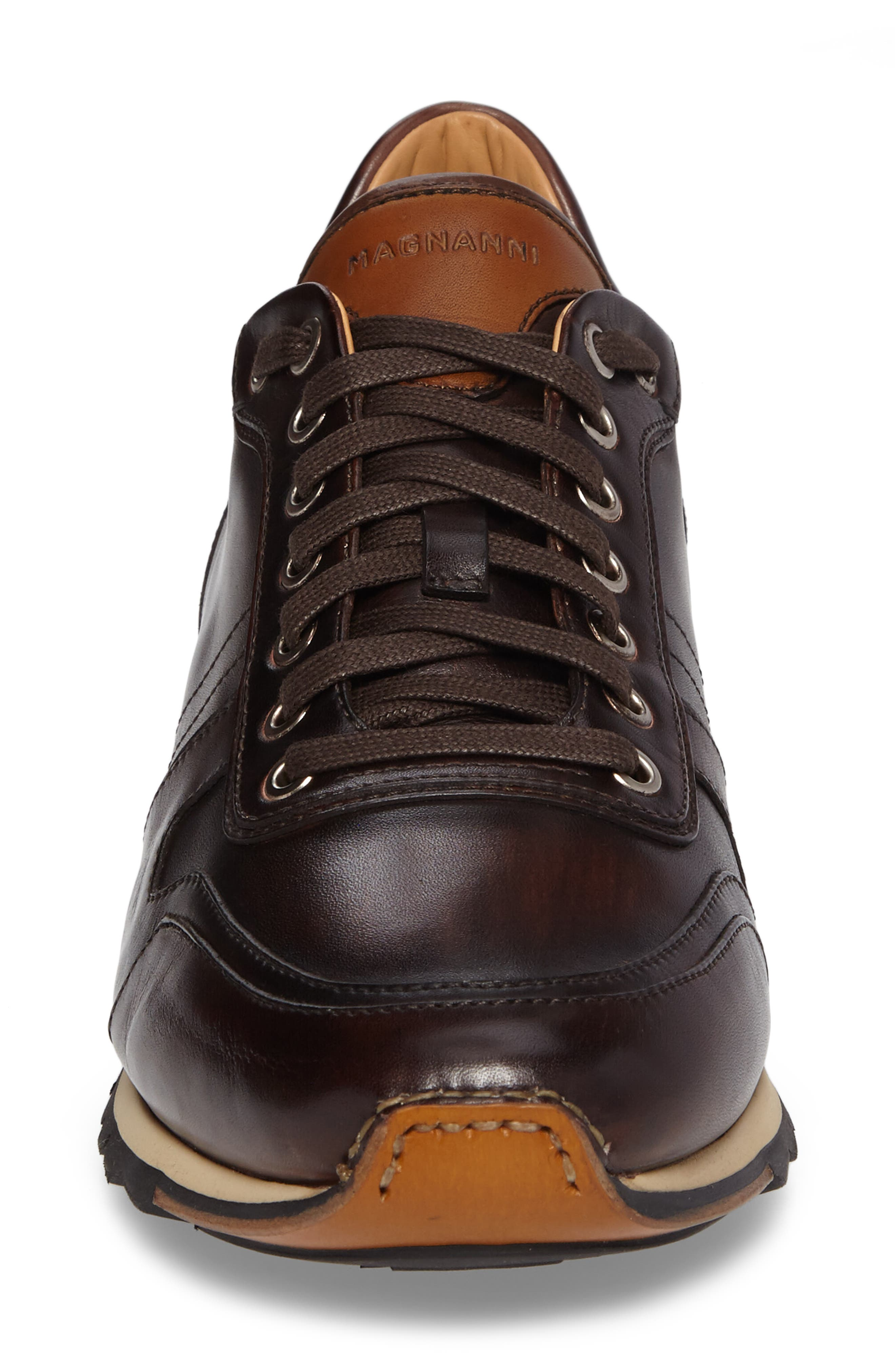 Galio Sneaker,                             Alternate thumbnail 4, color,                             Brown Leather