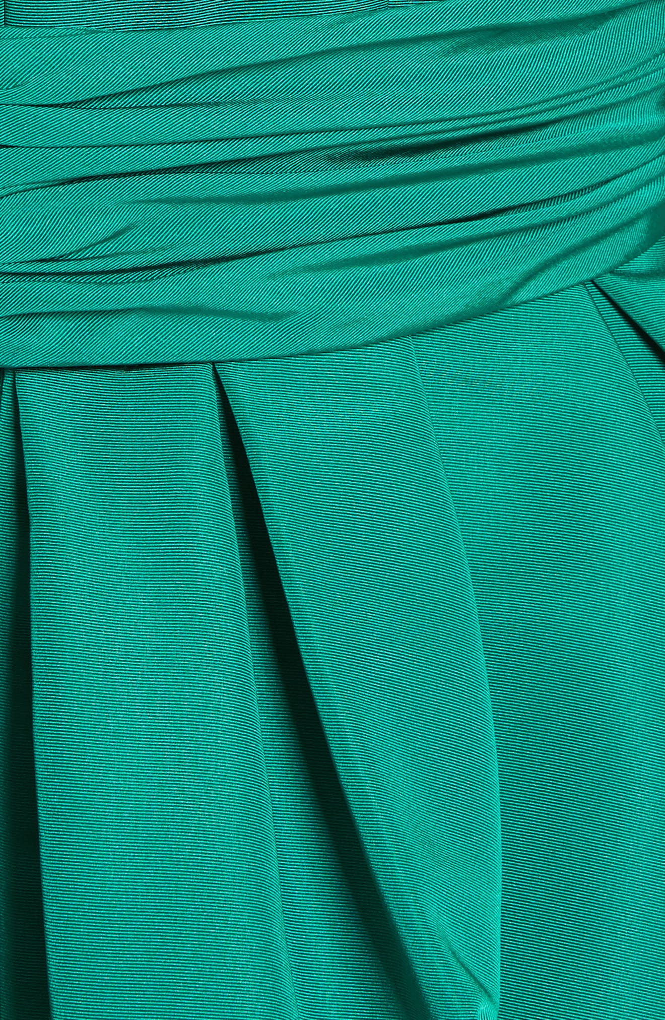 Off the Shoulder Silk Faille Gown,                             Alternate thumbnail 6, color,                             Green