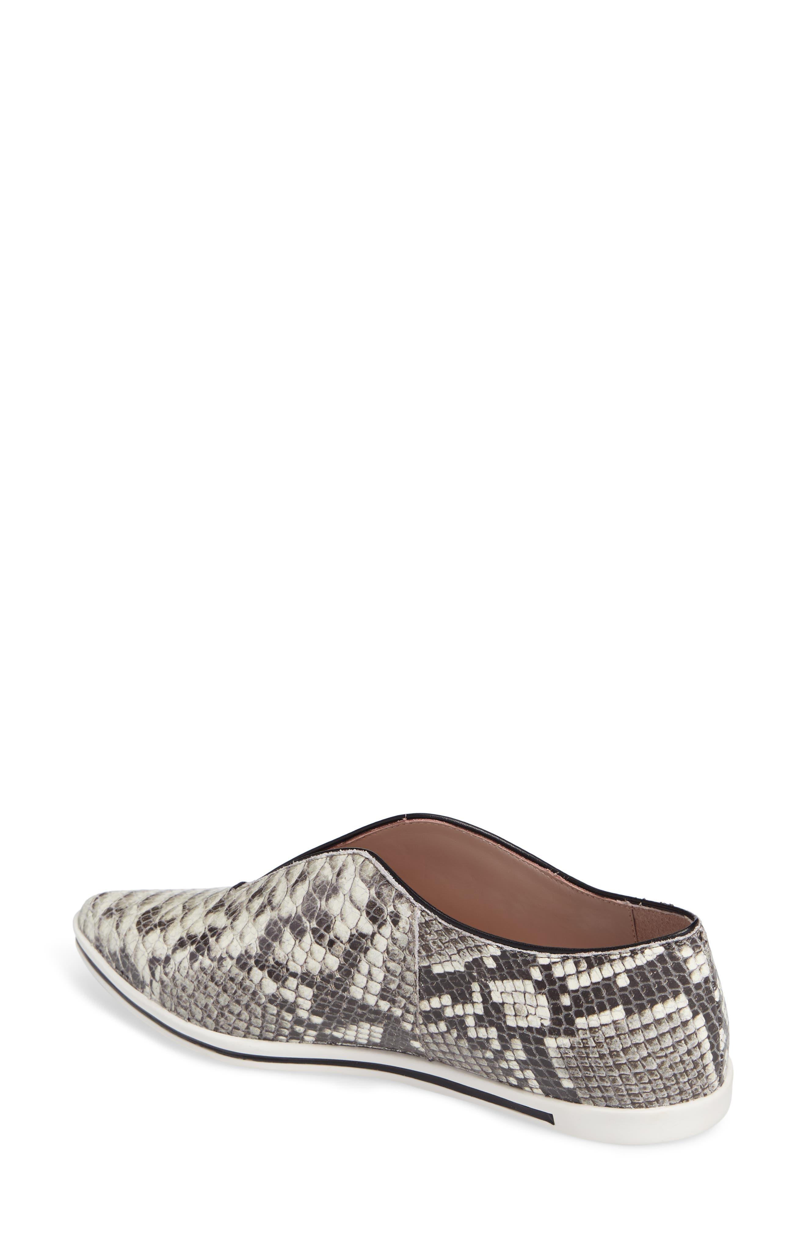 Tisha Slip-On Sneaker,                             Alternate thumbnail 2, color,                             Natural Embossed Leather