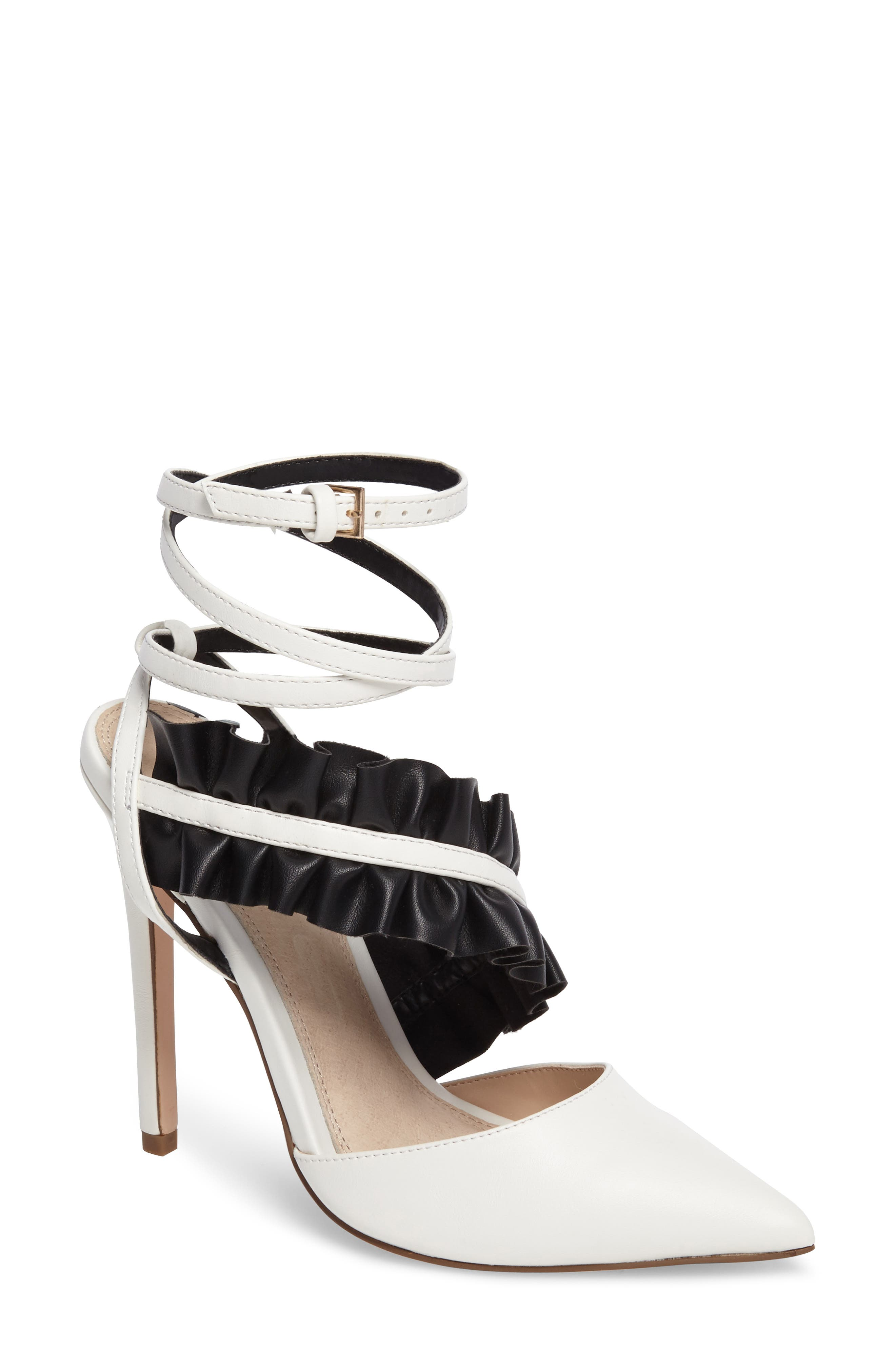 Grill Frill Ankle Strap Pump,                         Main,                         color, White Multi