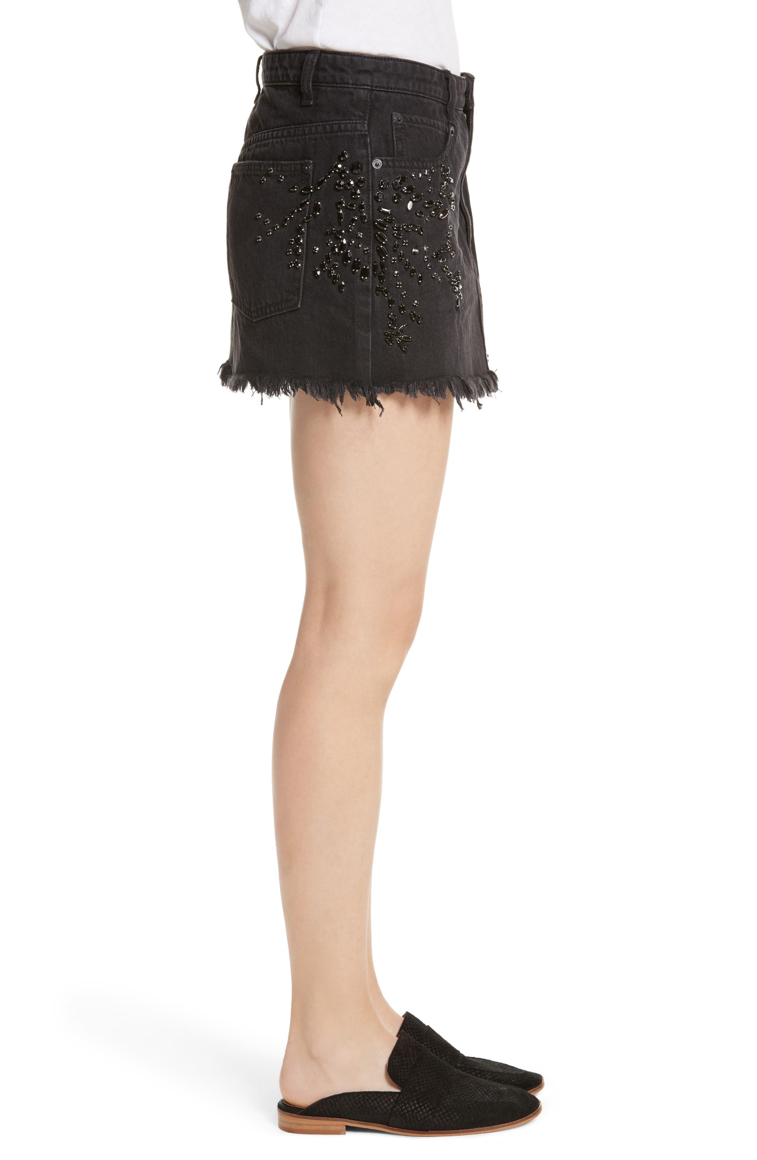 Alternate Image 3  - Free People Shine Bright Shine Far Beaded Miniskirt