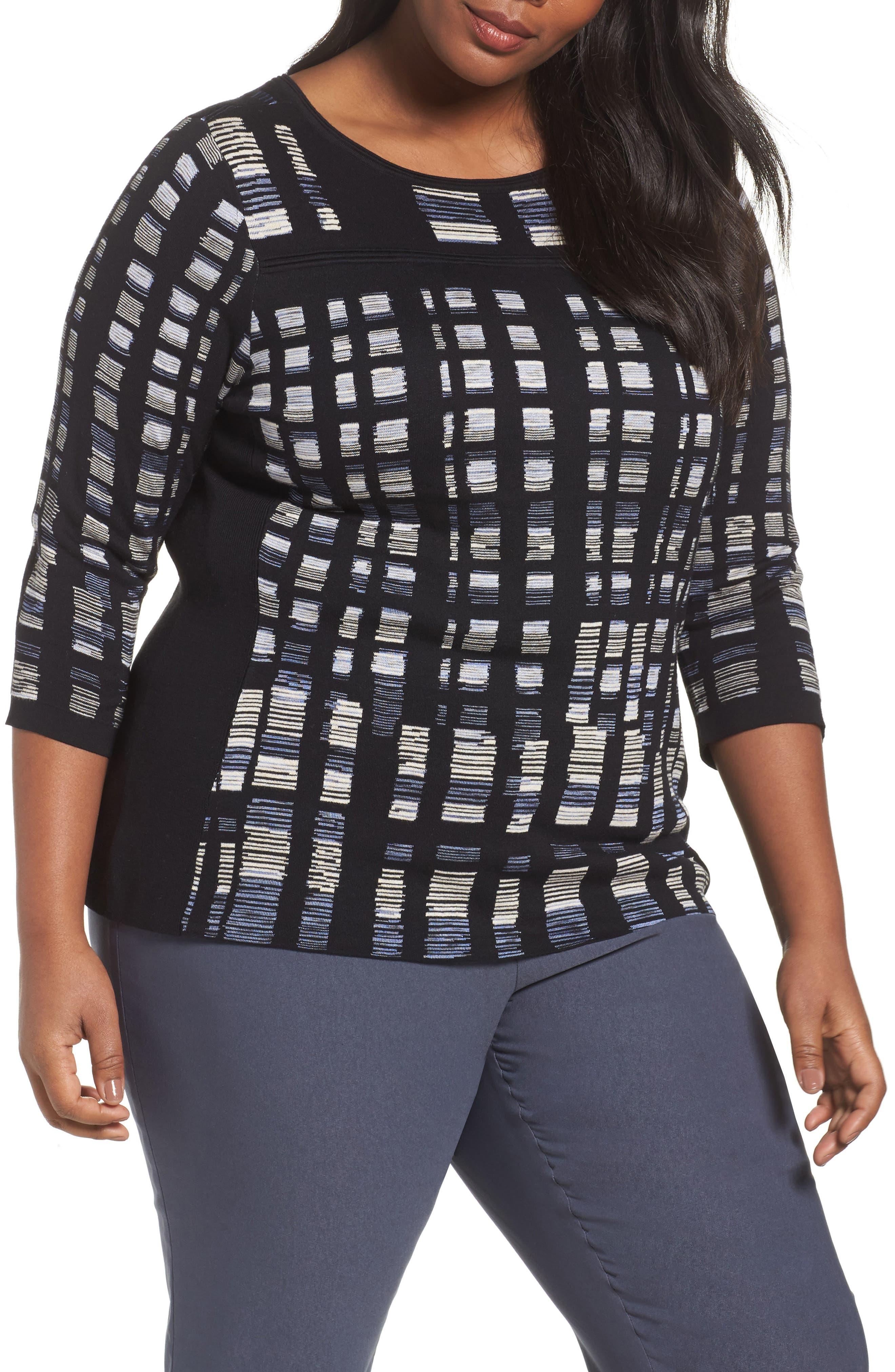 Crystal Cove Sweater,                             Main thumbnail 1, color,                             Black Multi