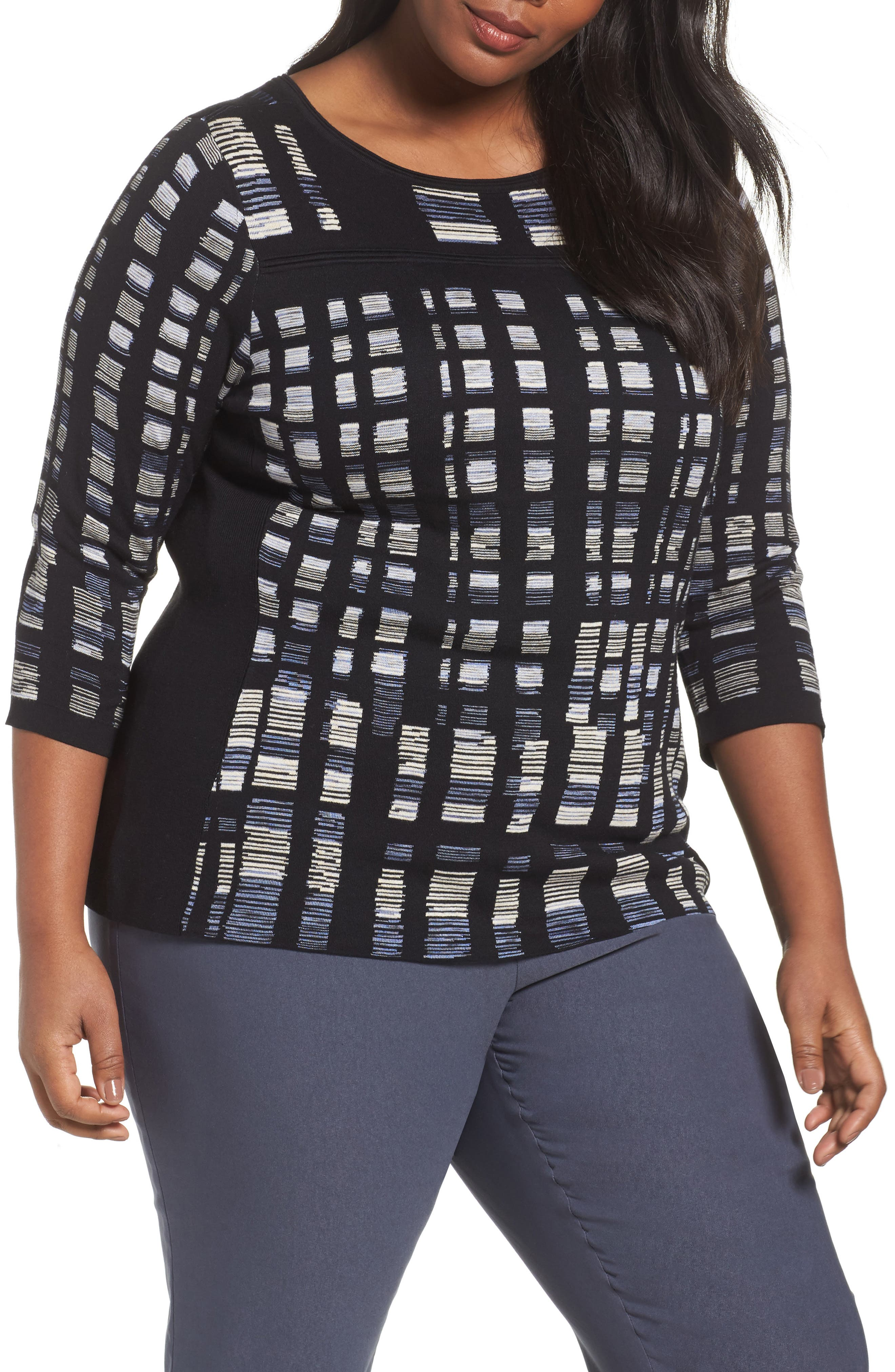Crystal Cove Sweater,                         Main,                         color, Black Multi