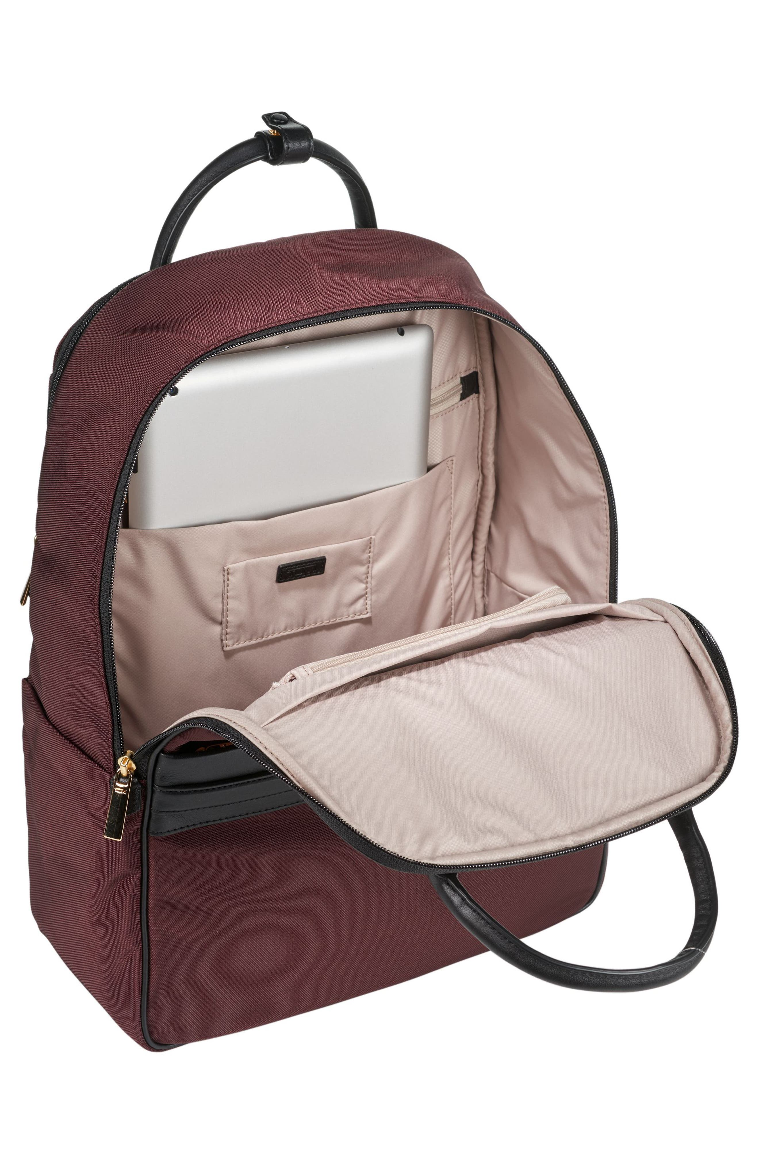 Larkin - Paterson Convertible Nylon Backpack,                             Alternate thumbnail 4, color,                             Bordeaux