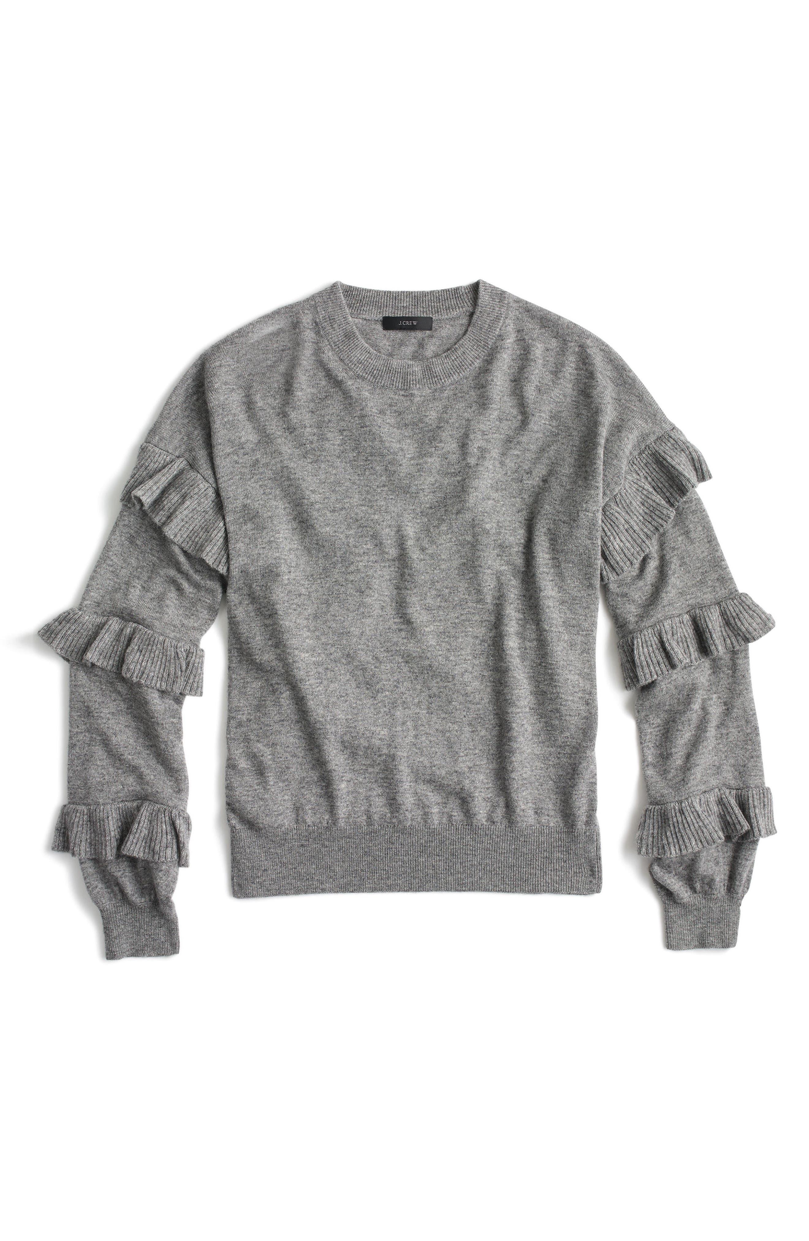 J.Crew Ruffle Sleeve Sweater