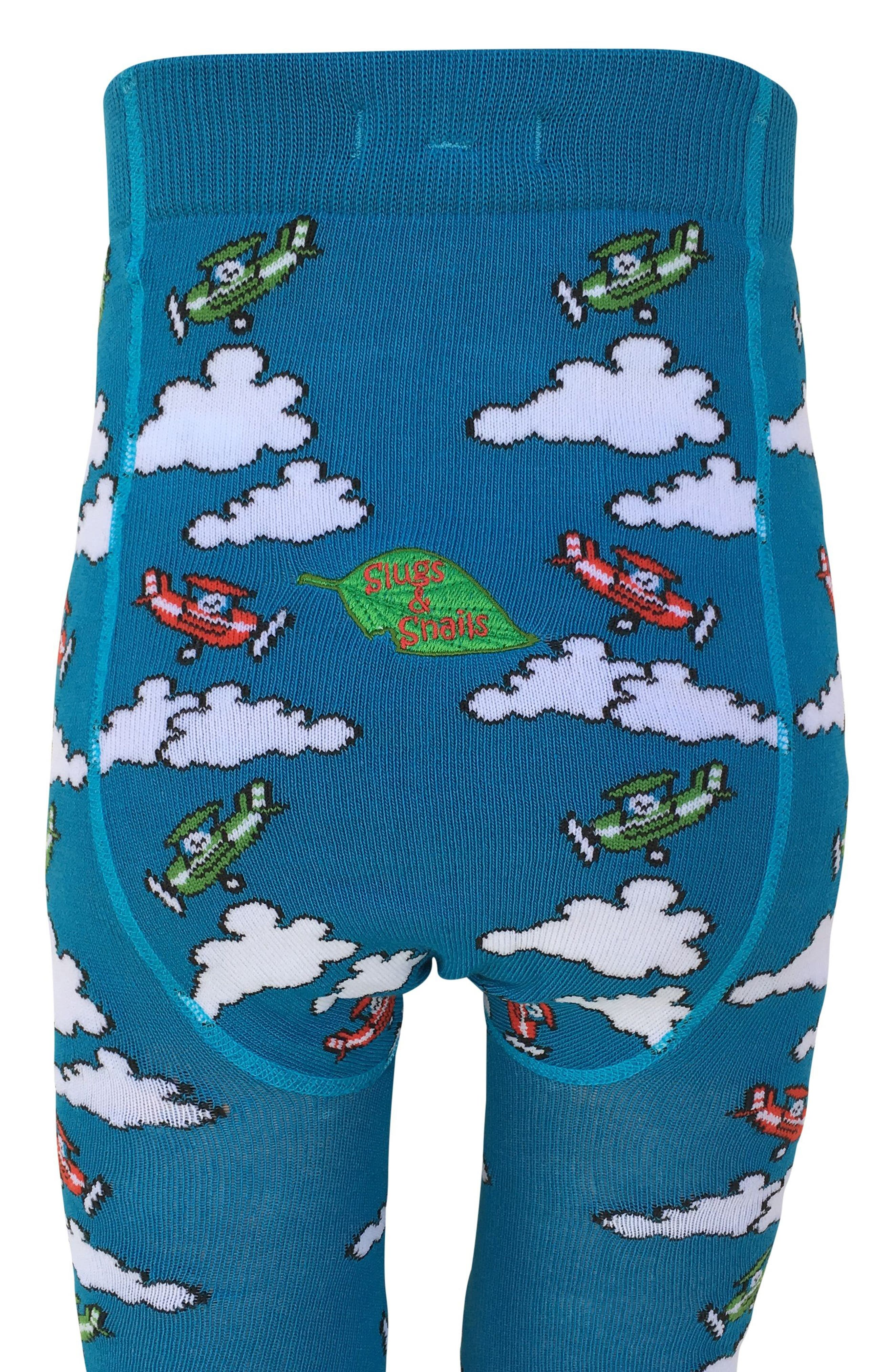Alternate Image 5  - Slugs & Snails Plane Tights (Baby Girls & Toddler Girls)