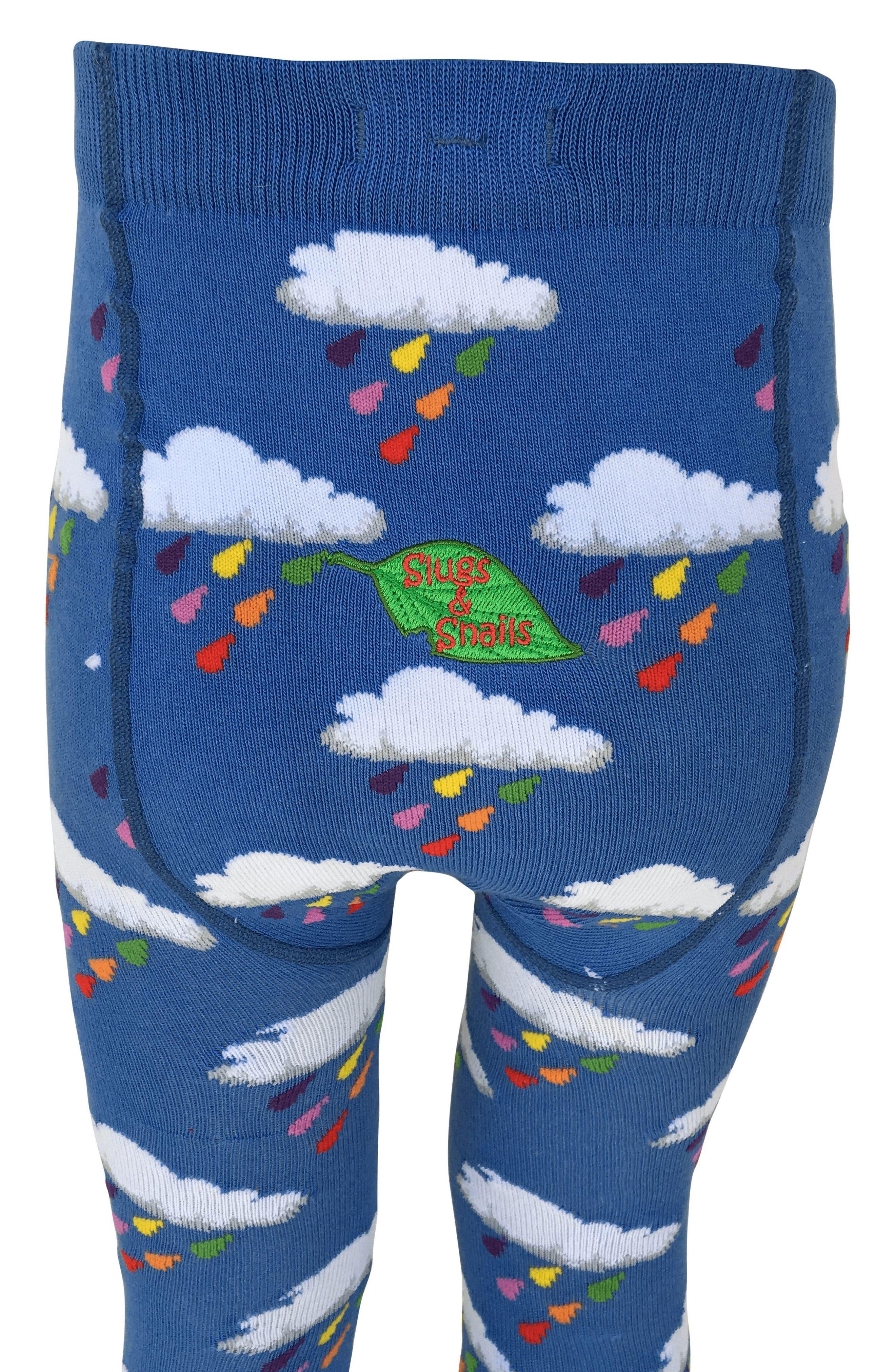 Alternate Image 2  - Slugs & Snails Raindrop Tights (Baby Girls & Toddler Girls)