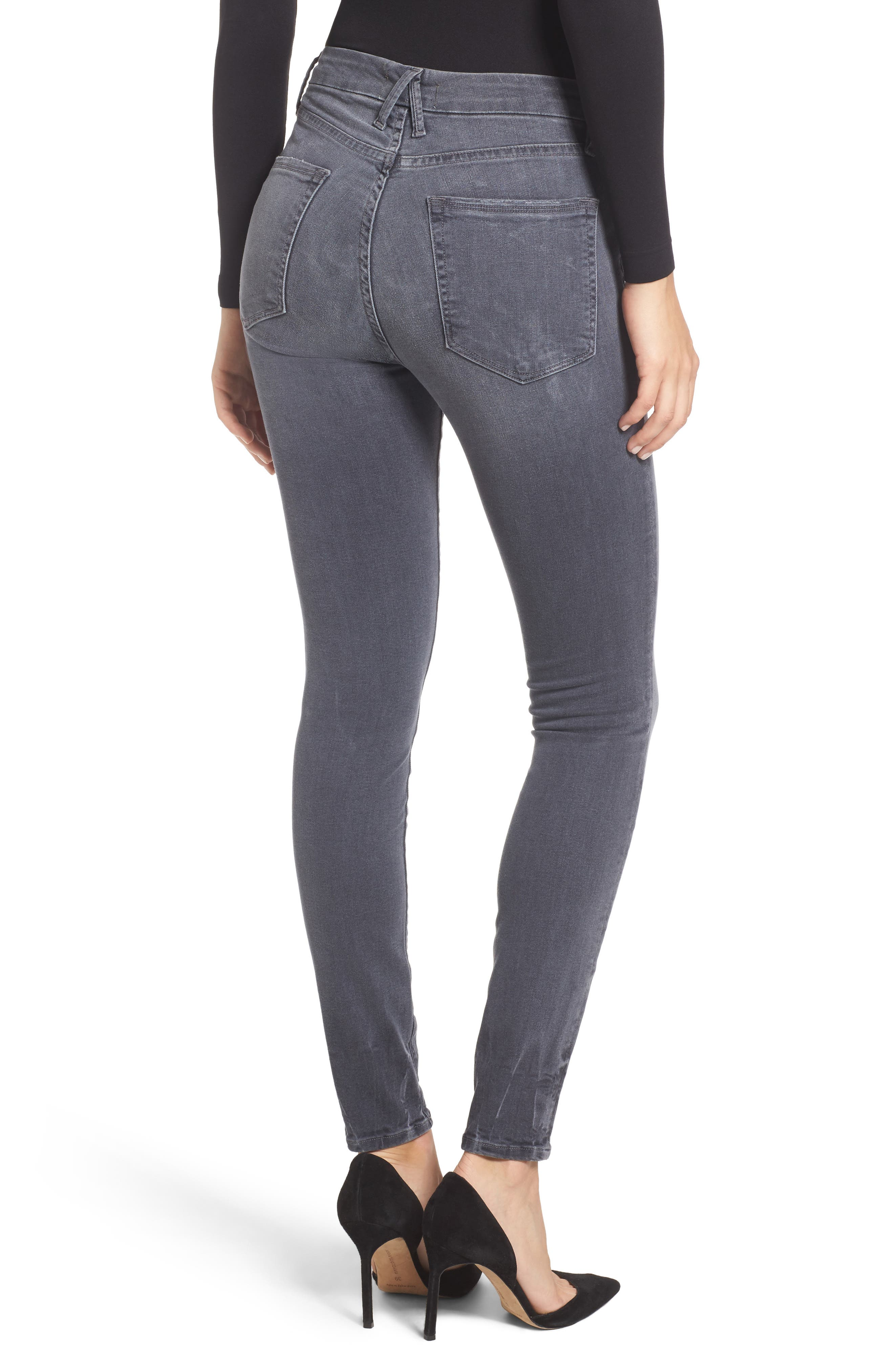Alternate Image 2  - Good American Good Legs High Waist Skinny Jeans (Grey 002) (Extended Sizes)