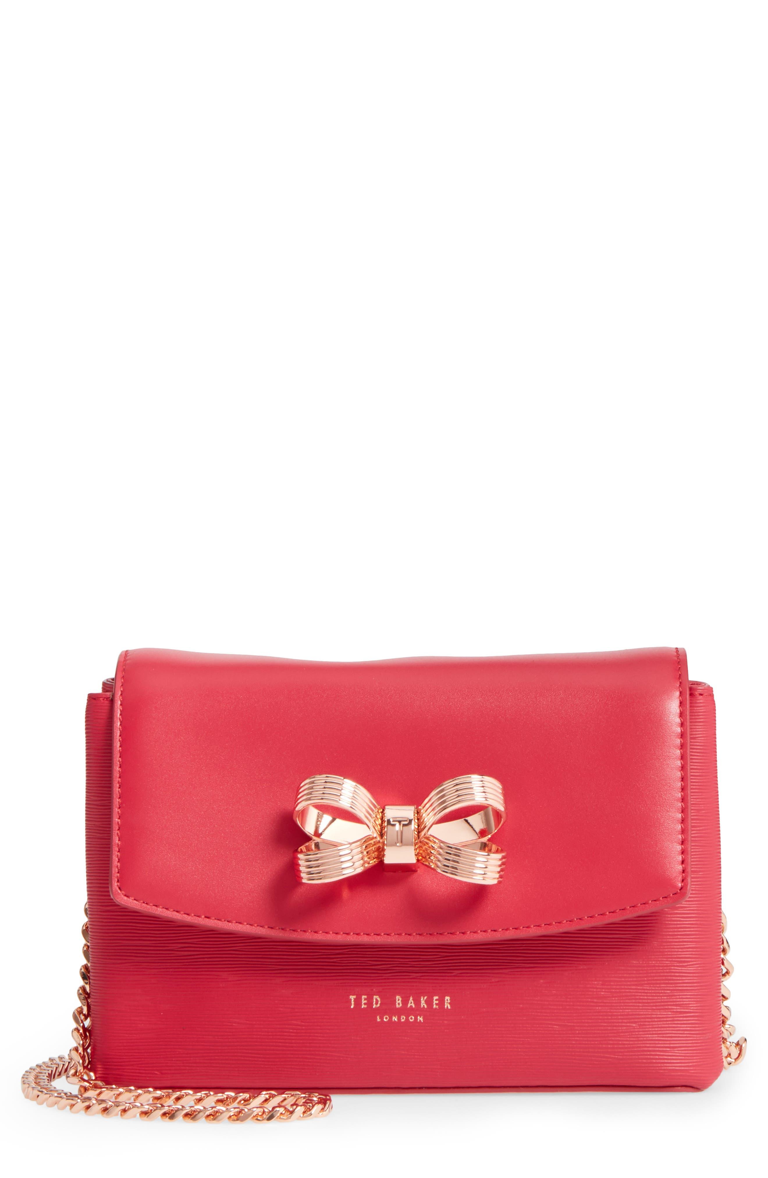 Ted Baker London Leorr Bow Leather Crossbody Bag