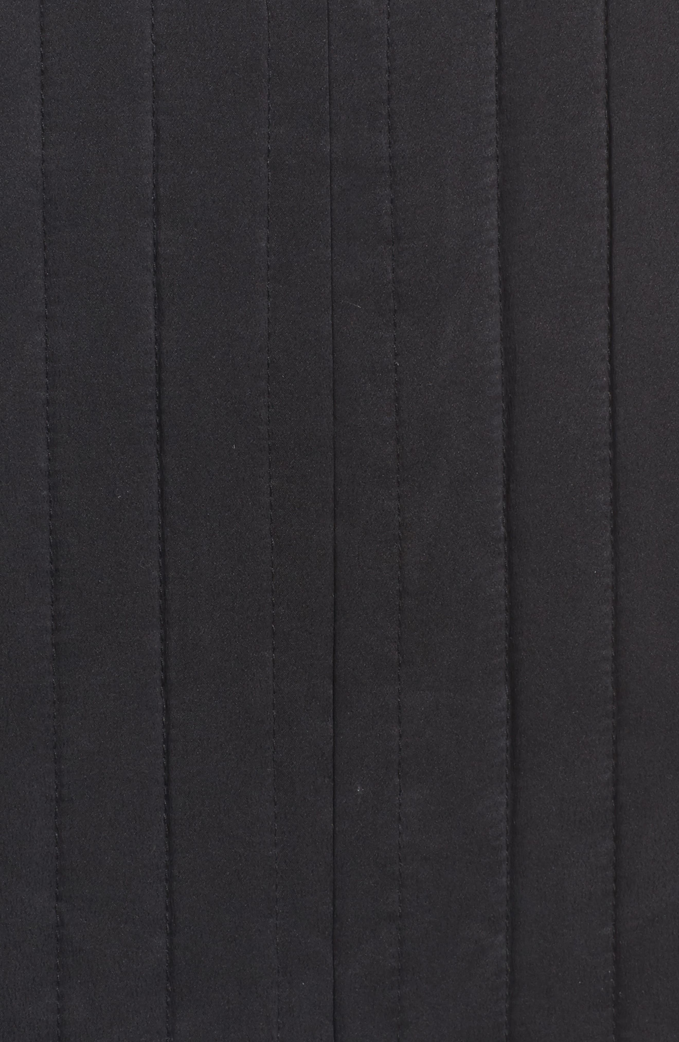 High Collar Silk Jacket,                             Alternate thumbnail 5, color,                             Black