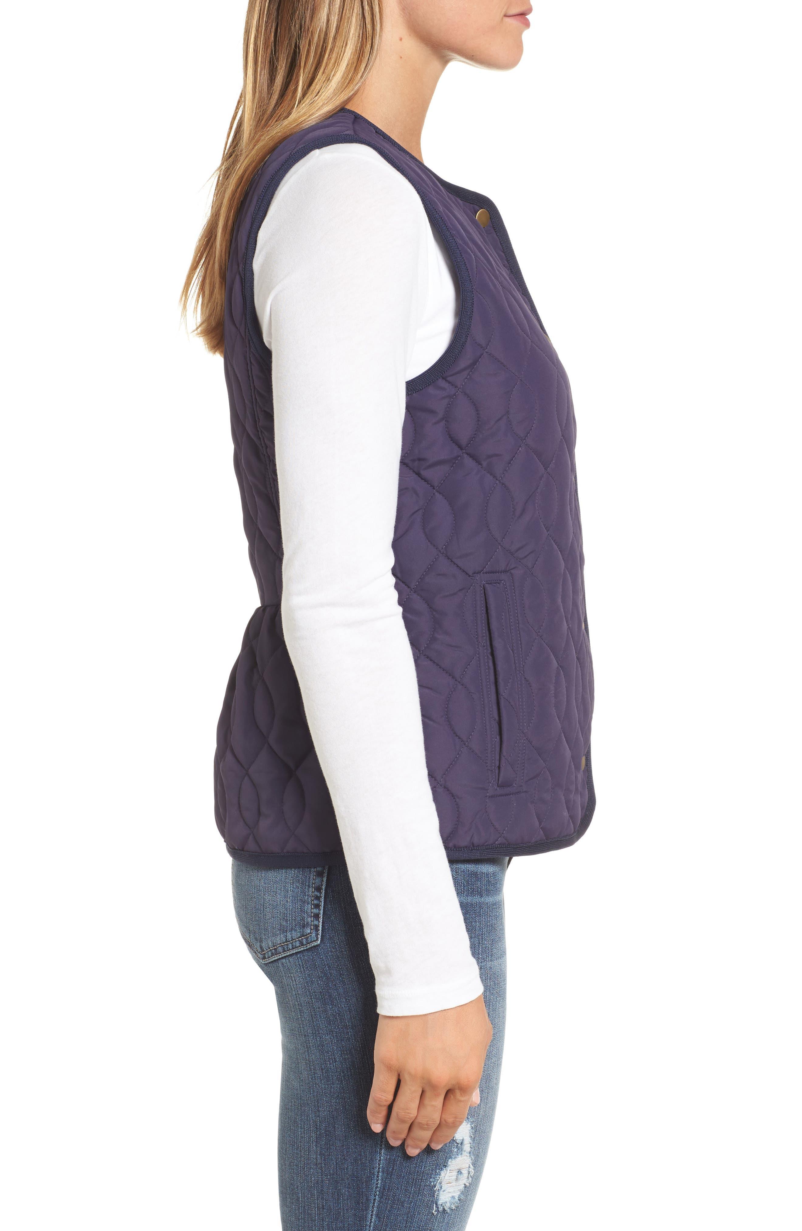 Alternate Image 4  - Caslon® Collarless Quilted Vest (Regular & Petite)