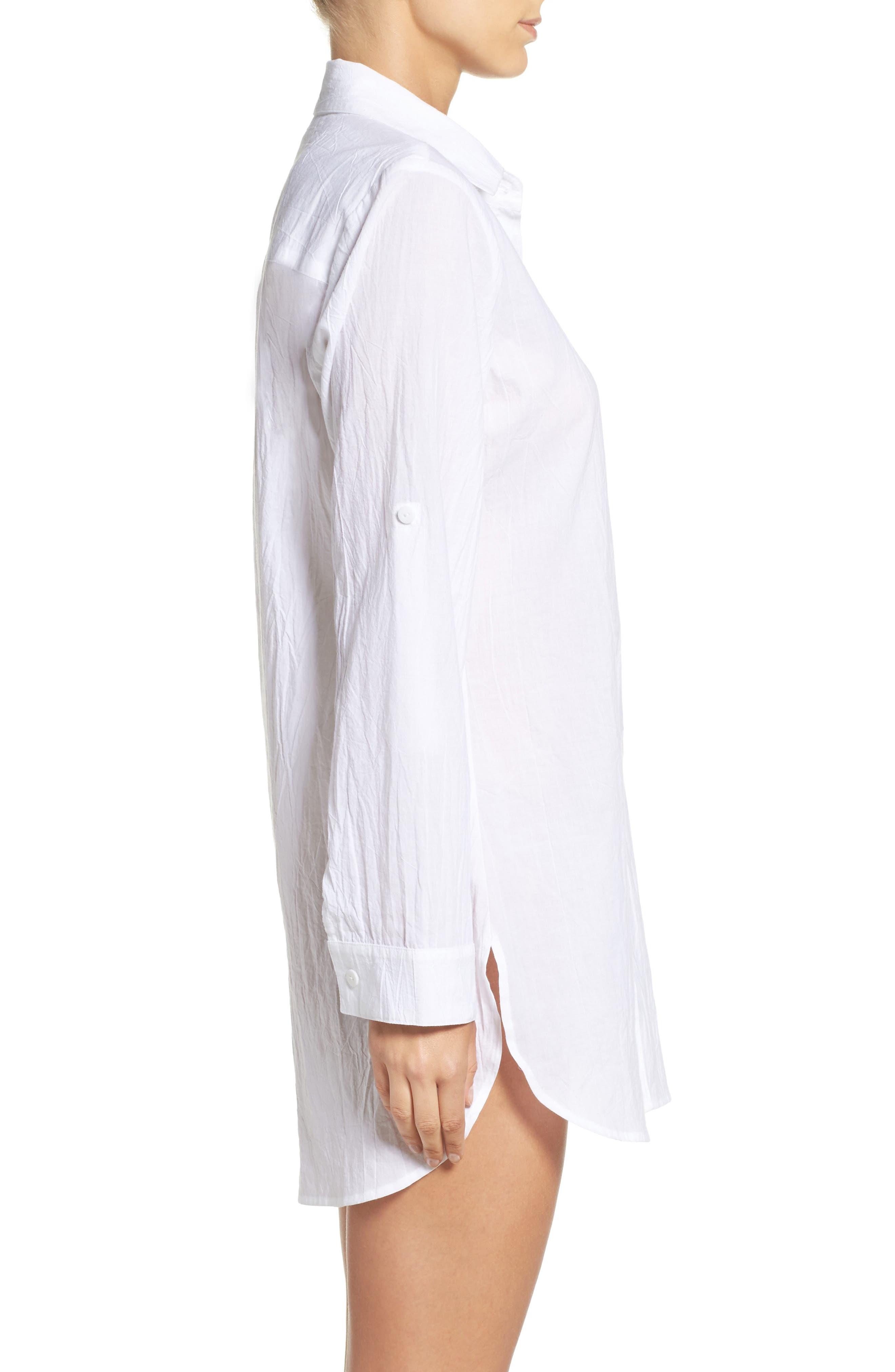 Alternate Image 3  - Tommy Bahama Boyfriend Shirt Cover-Up