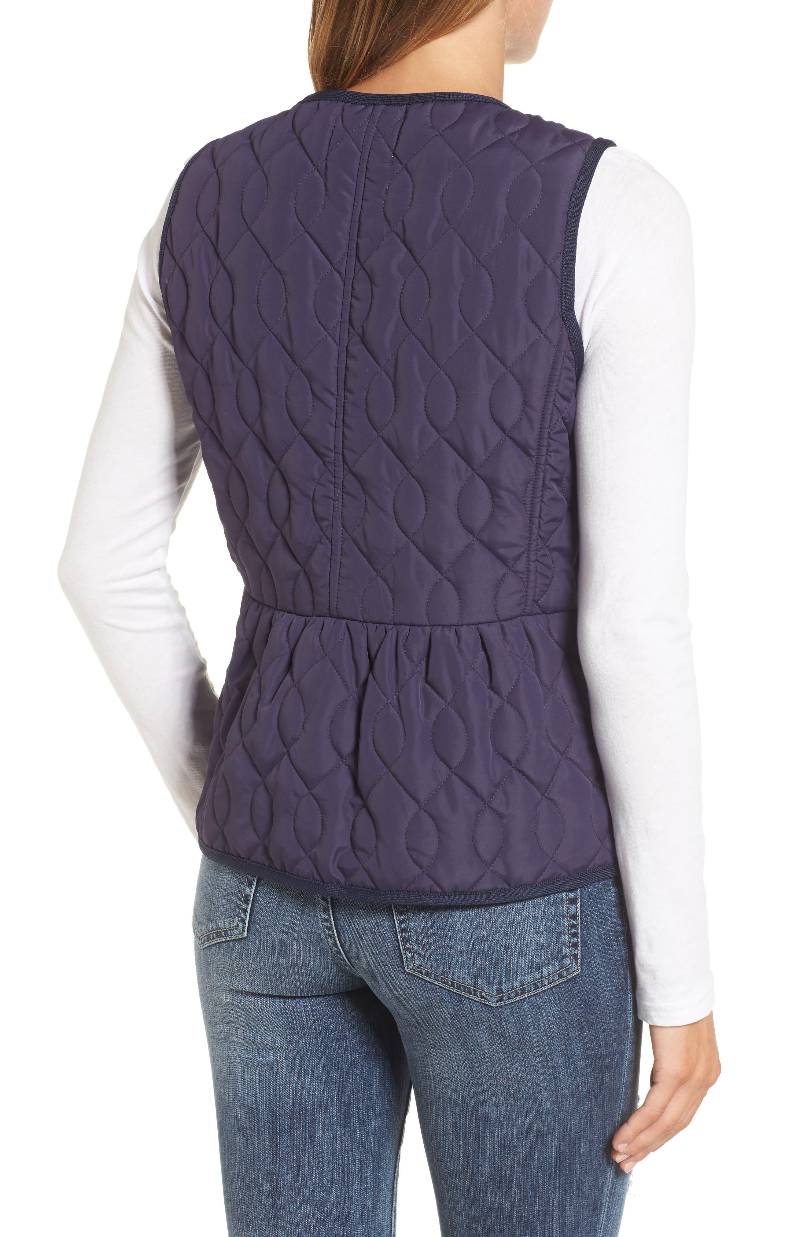 Alternate Image 2  - Caslon® Collarless Quilted Vest (Regular & Petite)