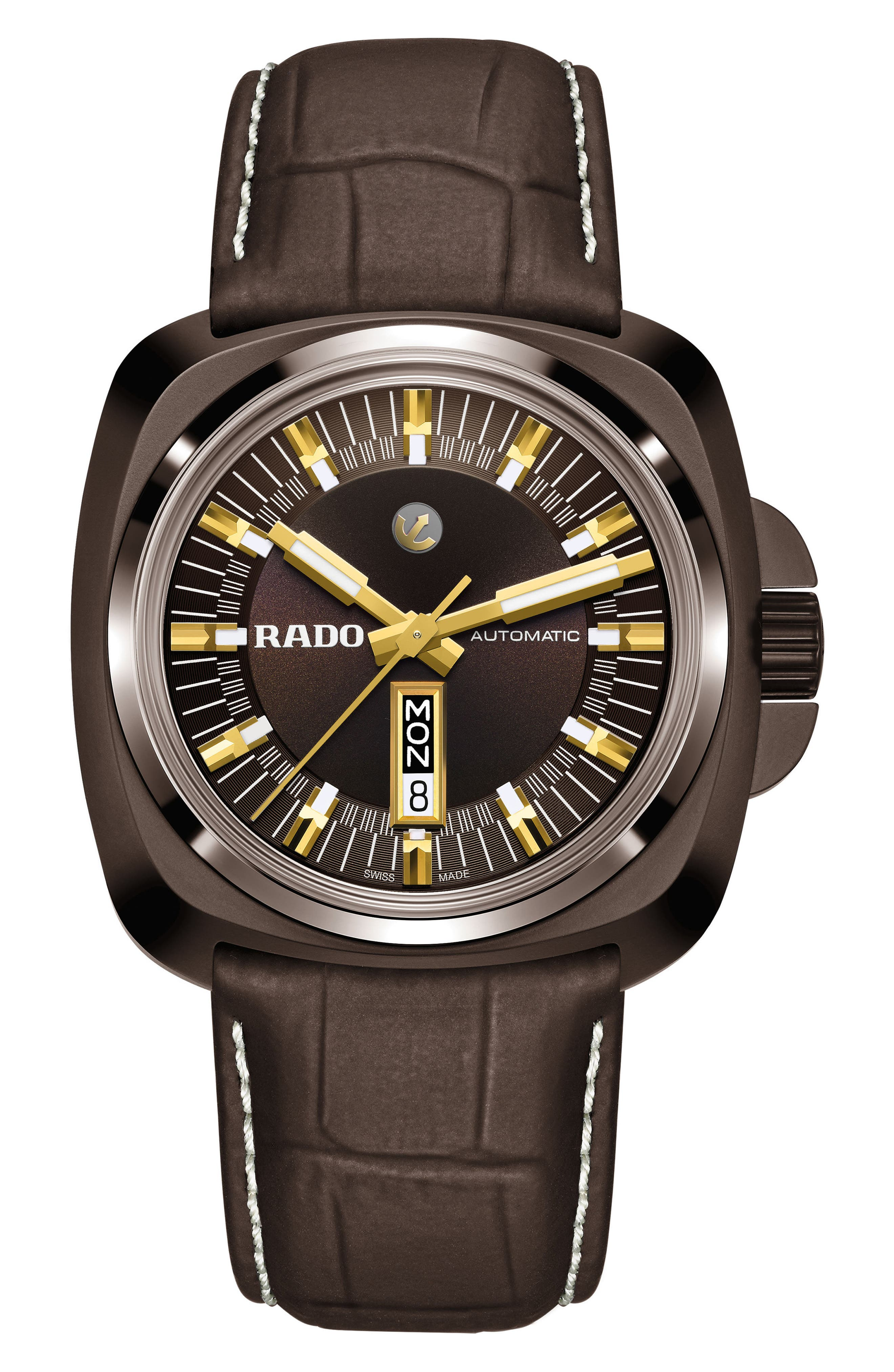 RADO HyperChrome 1616 Automatic Leather Strap Watch, 46mm