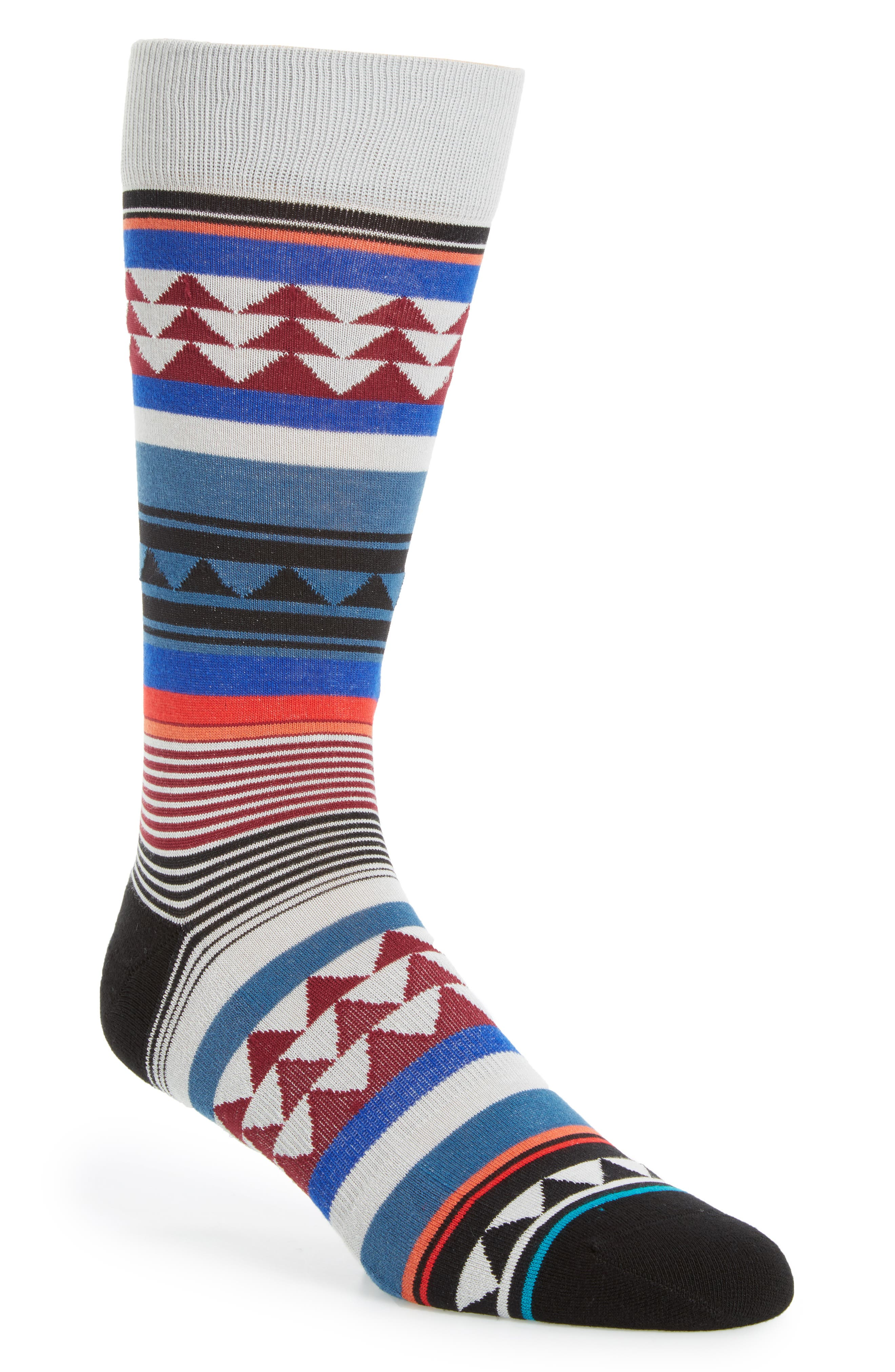 Creek Crew Socks,                         Main,                         color, Blue Multi
