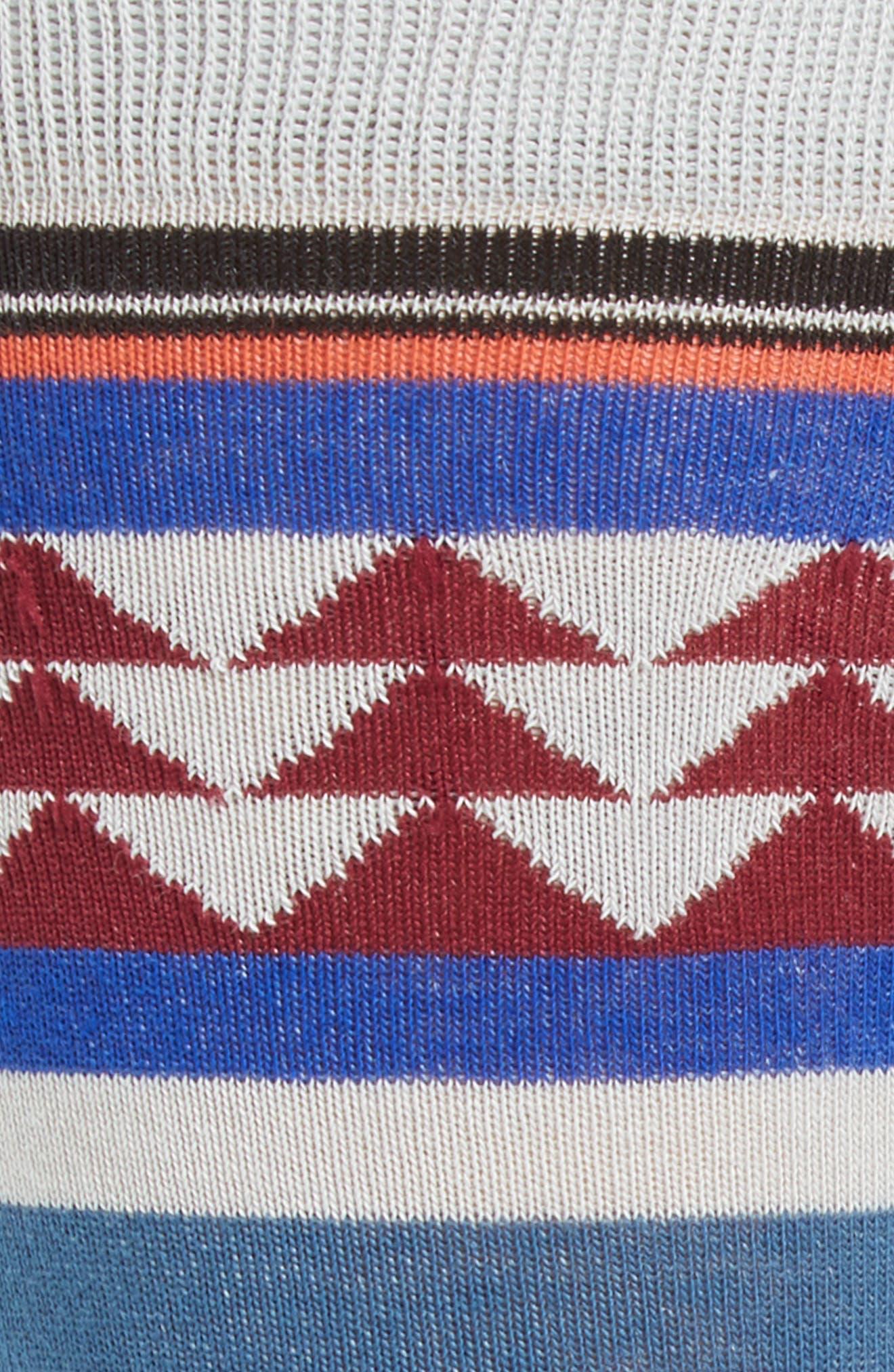 Creek Crew Socks,                             Alternate thumbnail 2, color,                             Blue Multi
