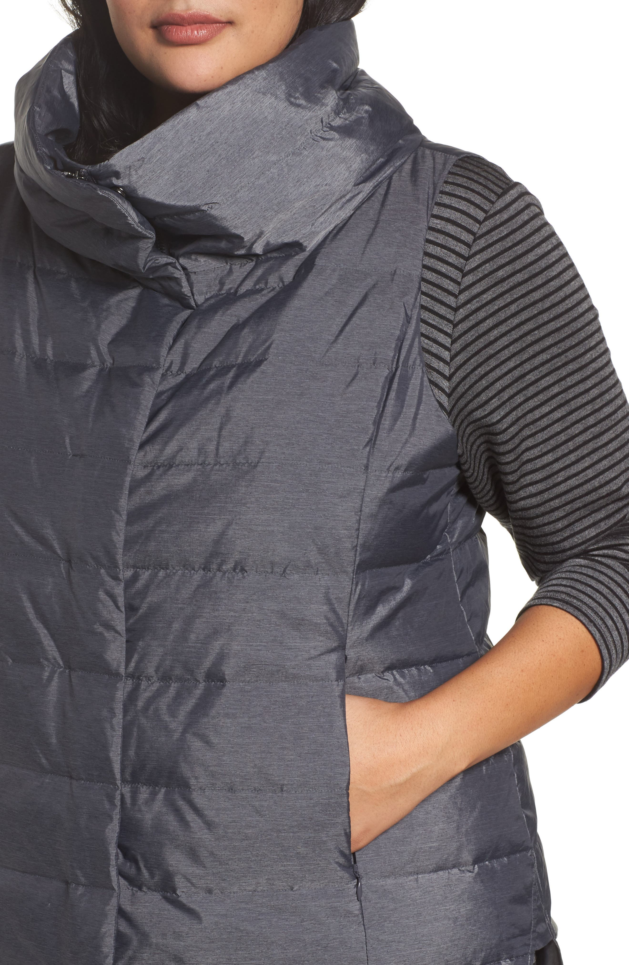 Stand Collar Vest,                             Alternate thumbnail 4, color,                             Charcoal