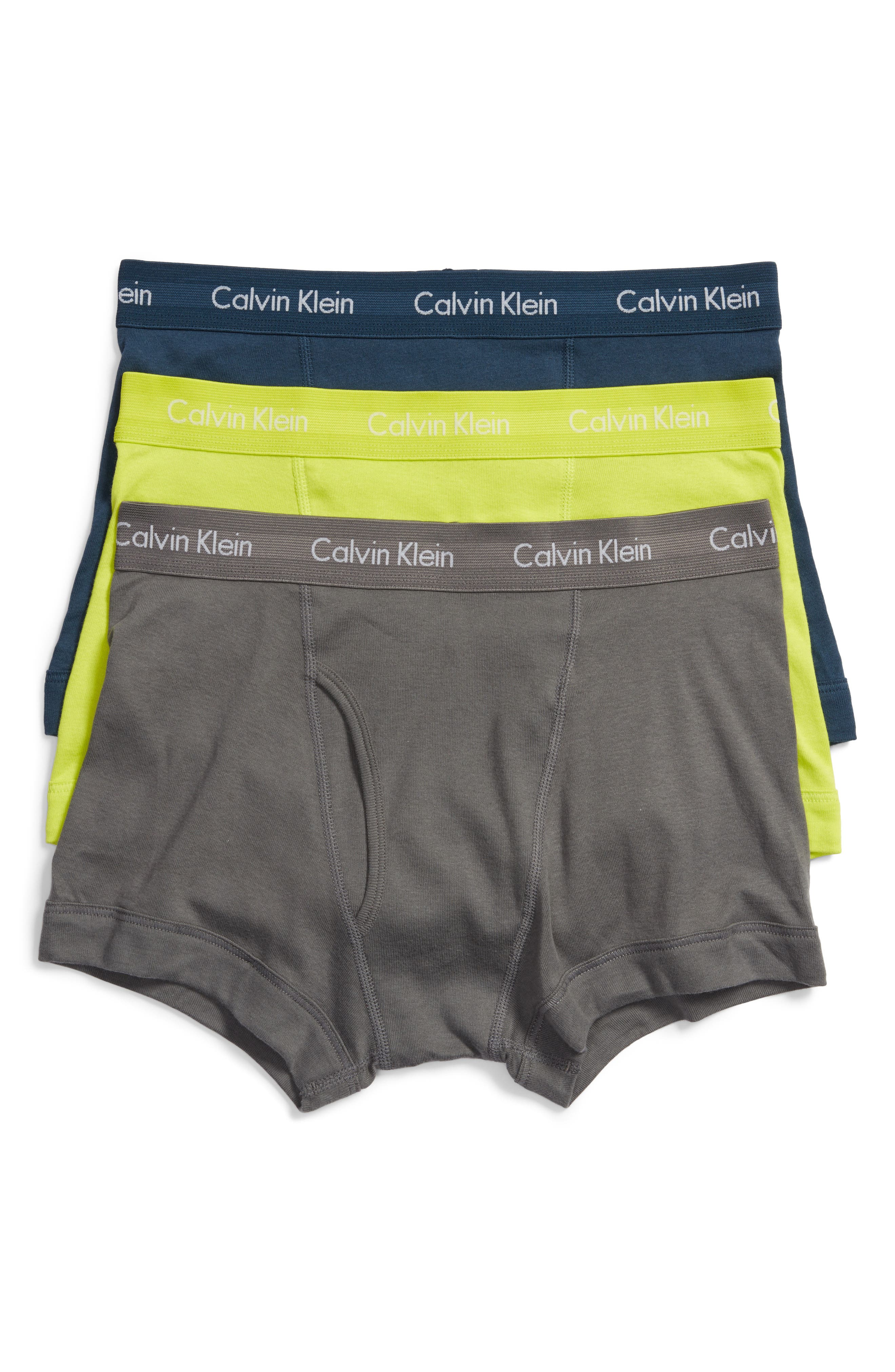Calvin Klein Cotton Trunks (3-Pack)