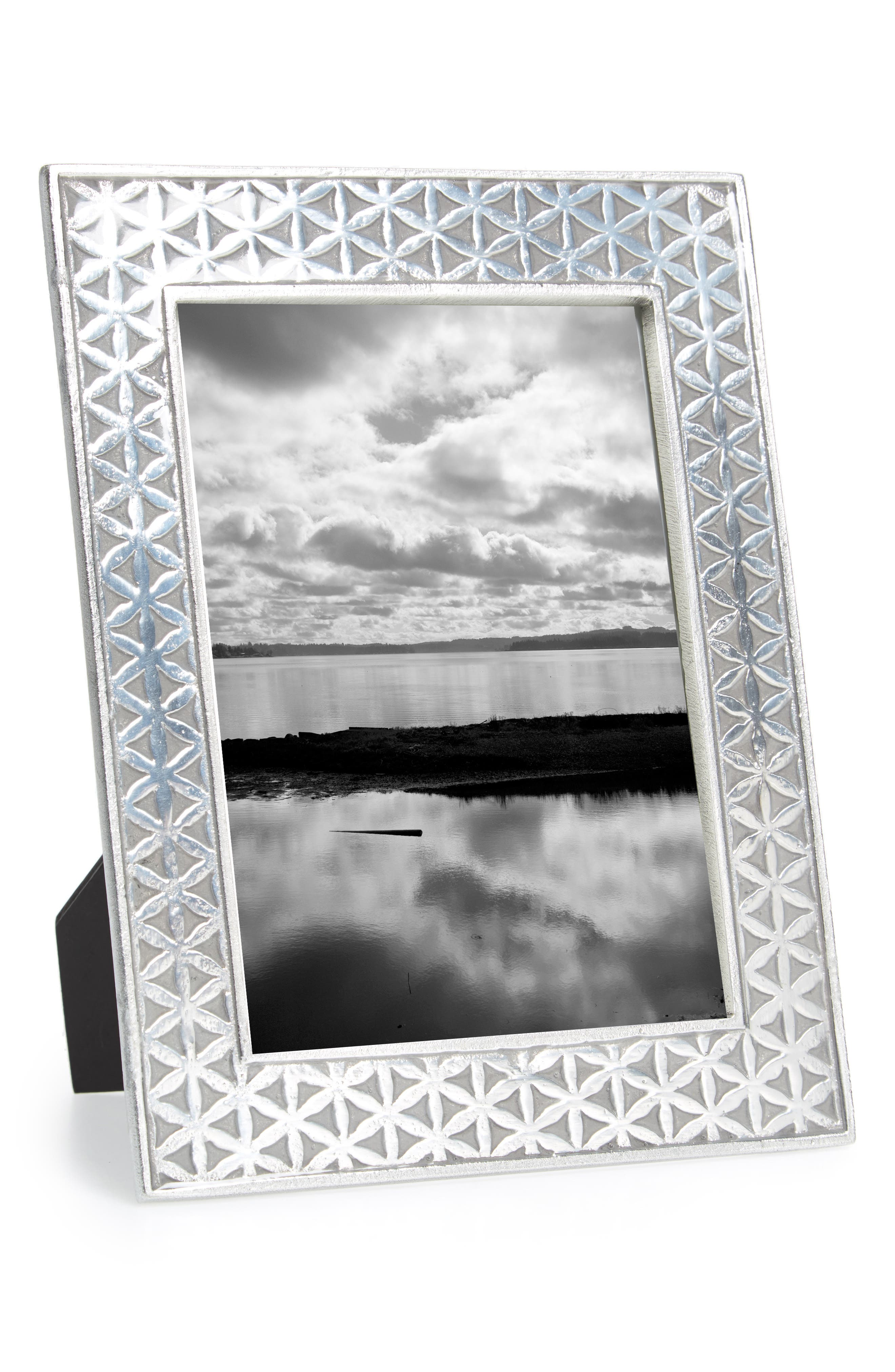 Flower of Life Picture Frame,                         Main,                         color, Medium Grey