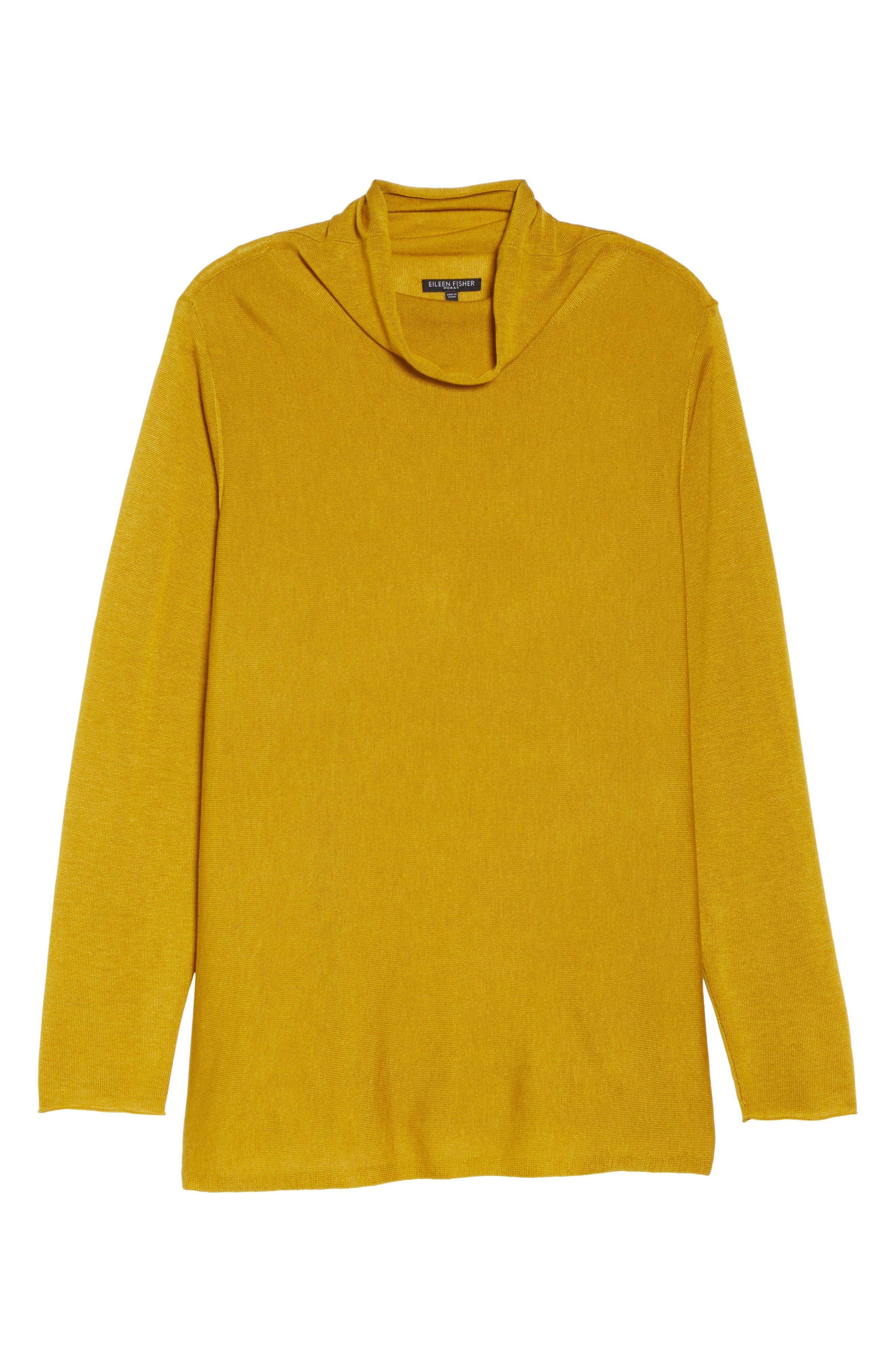 Alternate Image 6  - Eileen Fisher Scrunch Turtleneck Sweater (Plus Size)