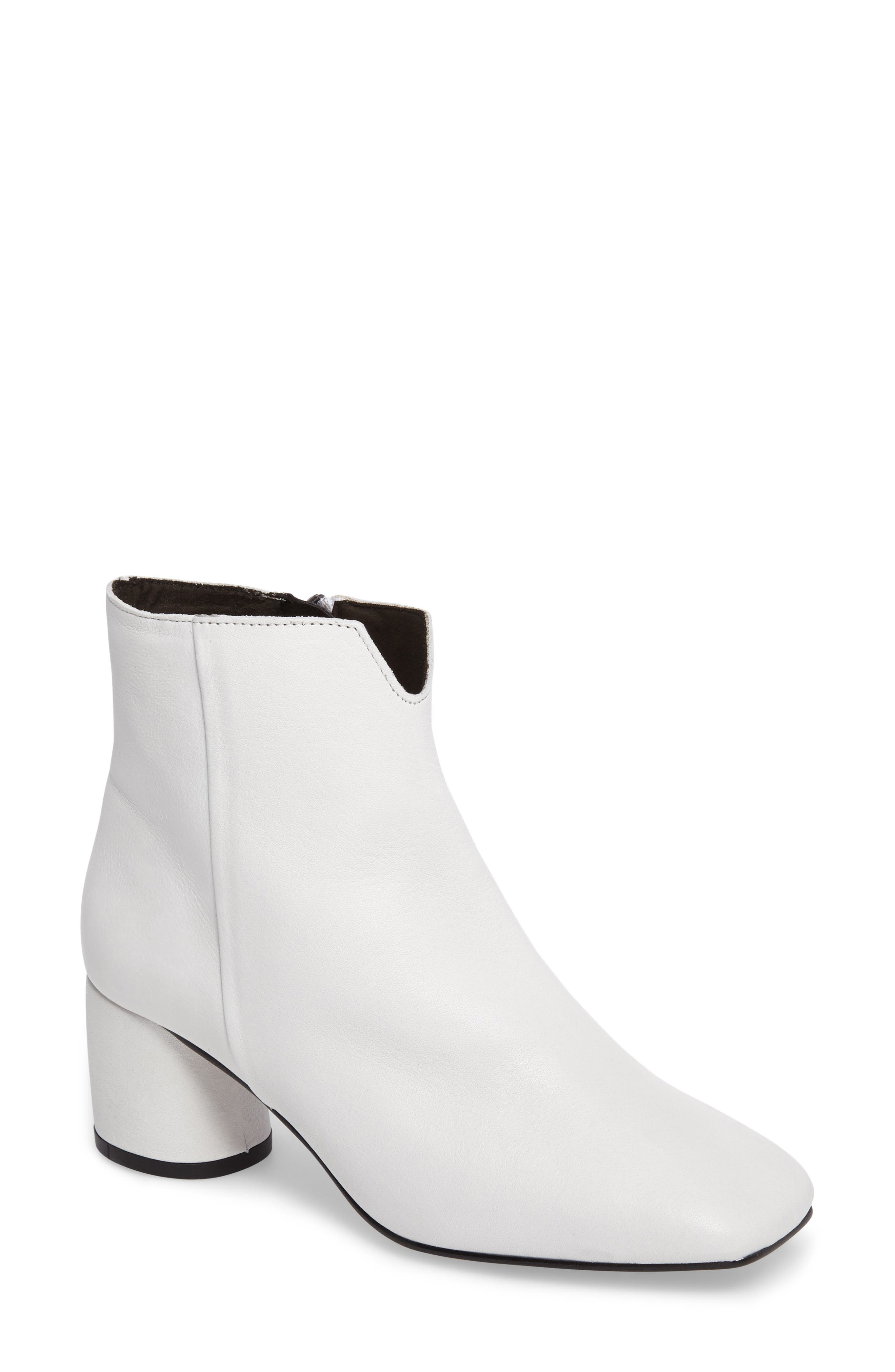 Marilo Block Heel Bootie,                         Main,                         color, White