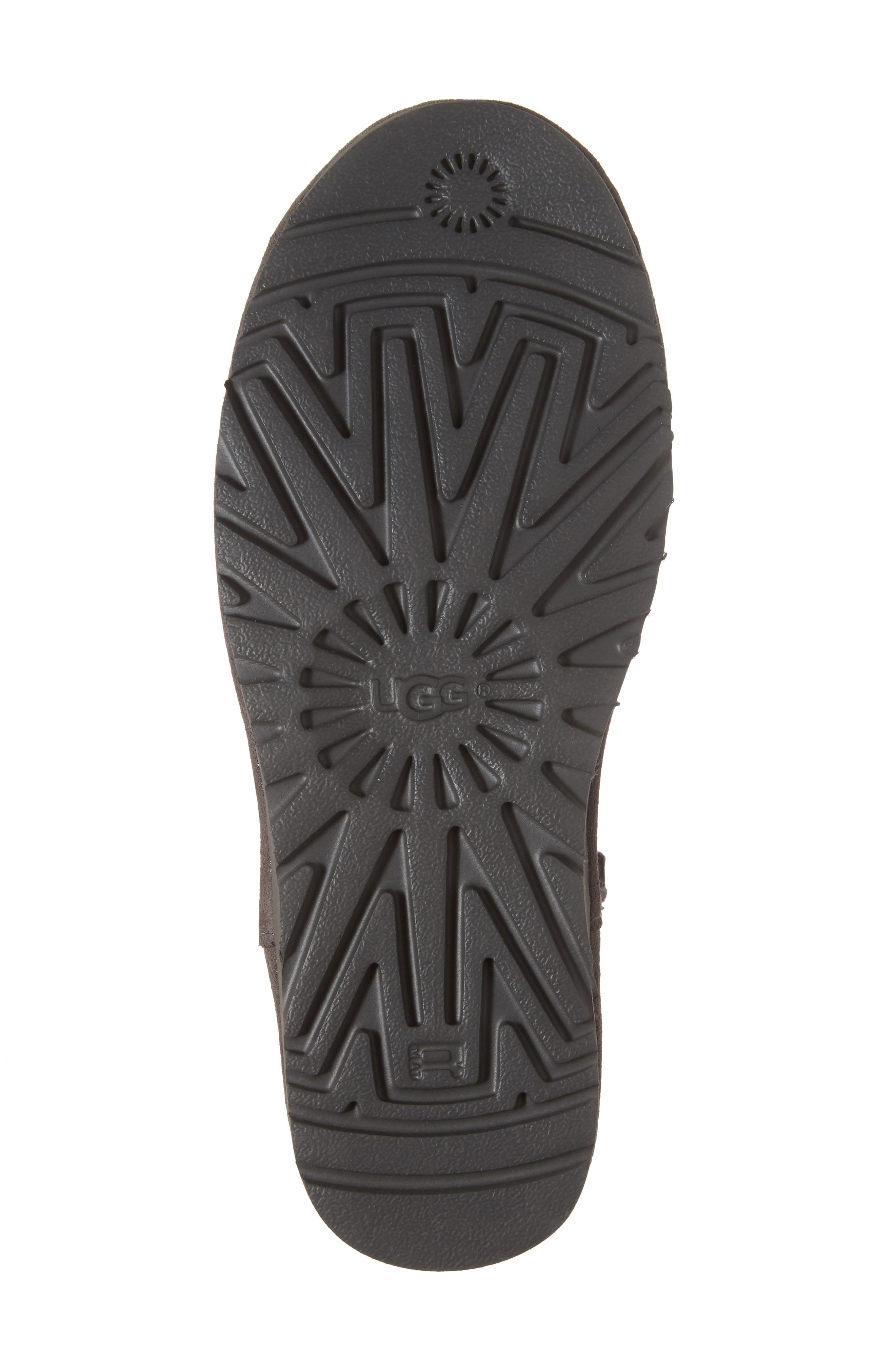Classic Unlined Mini Boot,                             Alternate thumbnail 5, color,                             Charcoal Suede