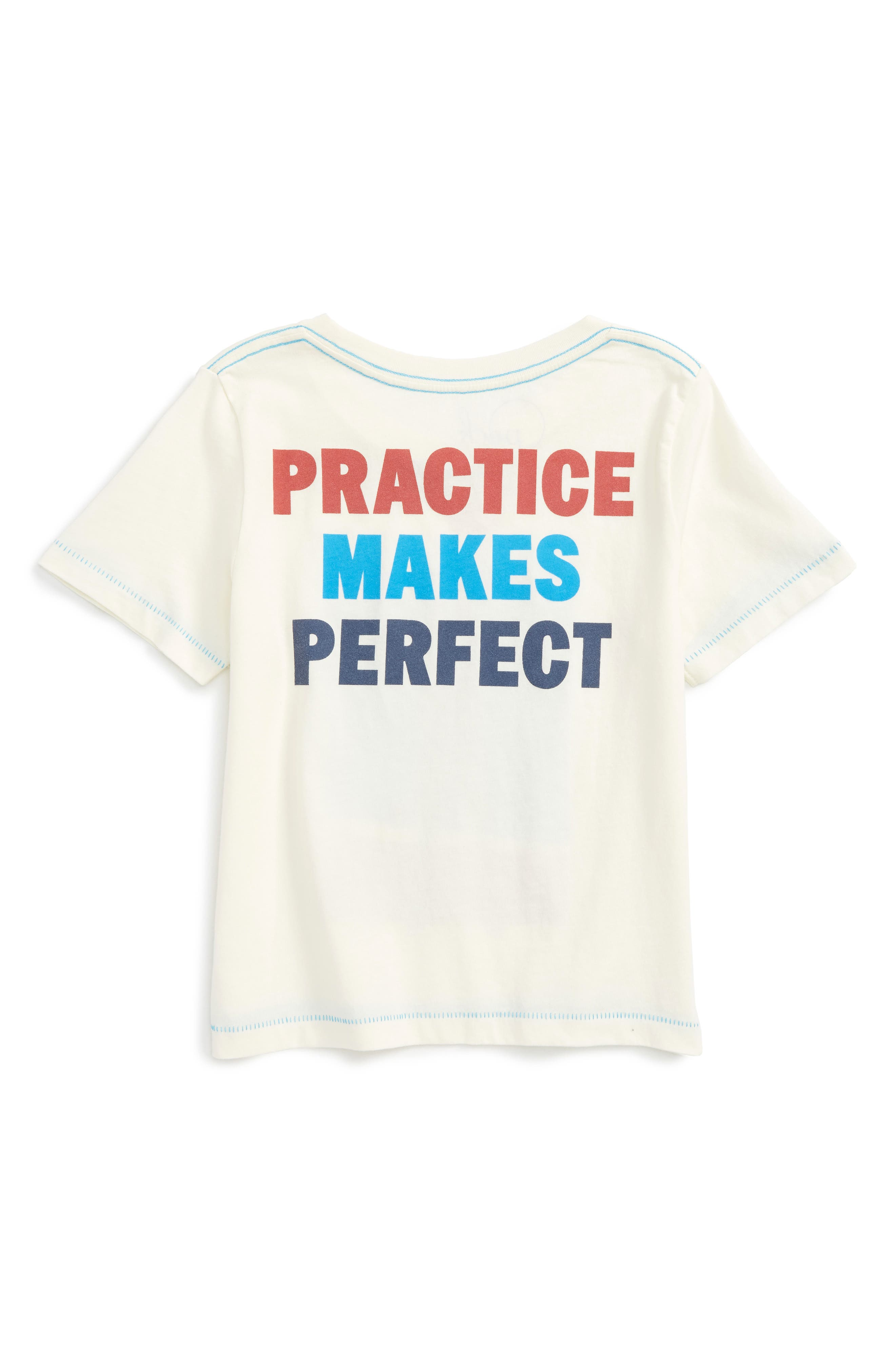 Alternate Image 2  - Peek Basketball Practice T-Shirt (Toddler Boys, Little Boys & Big Boys)