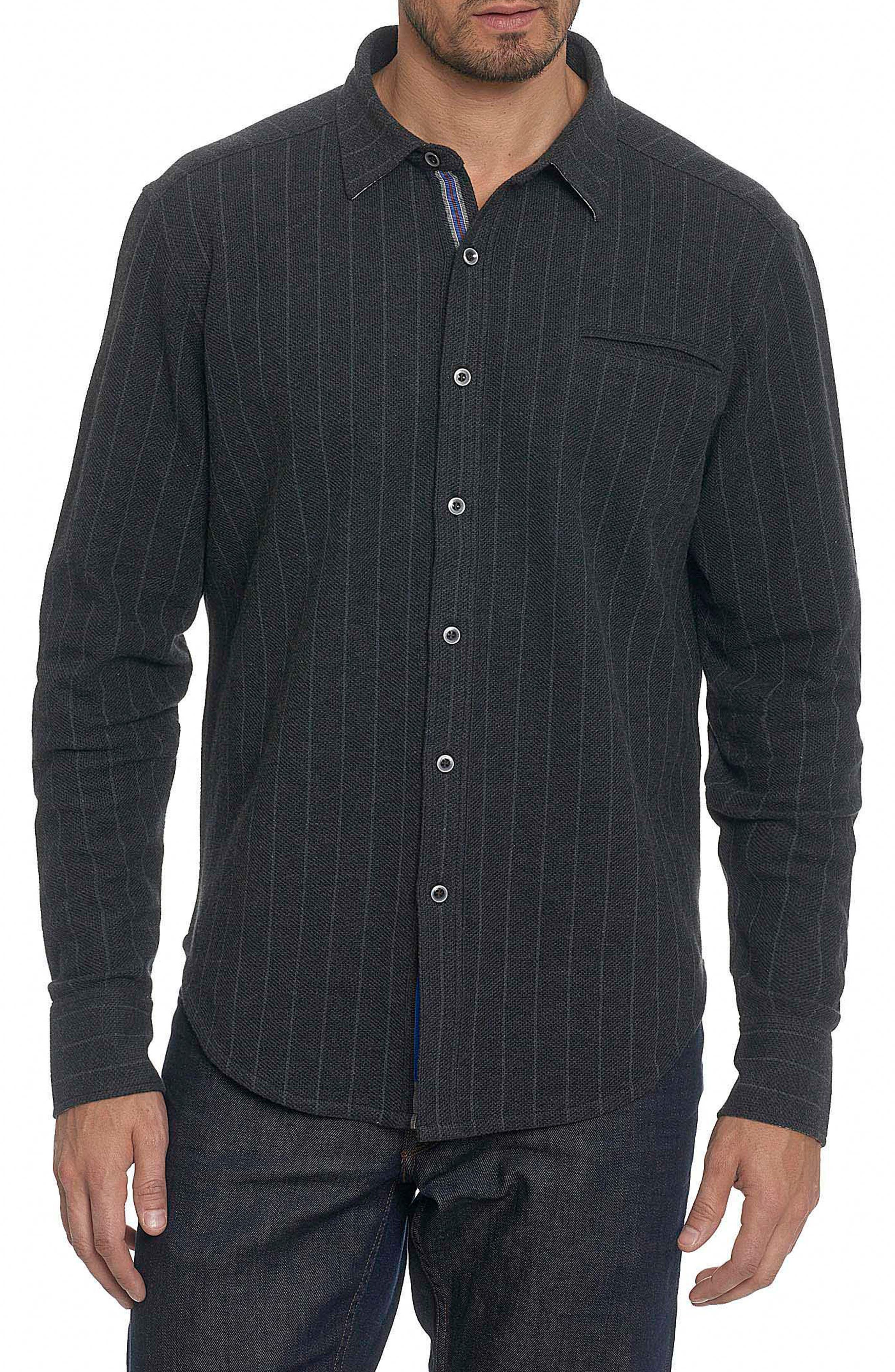 Amboy Classic Fit Shirt Jacket,                         Main,                         color, Heather Charcoal