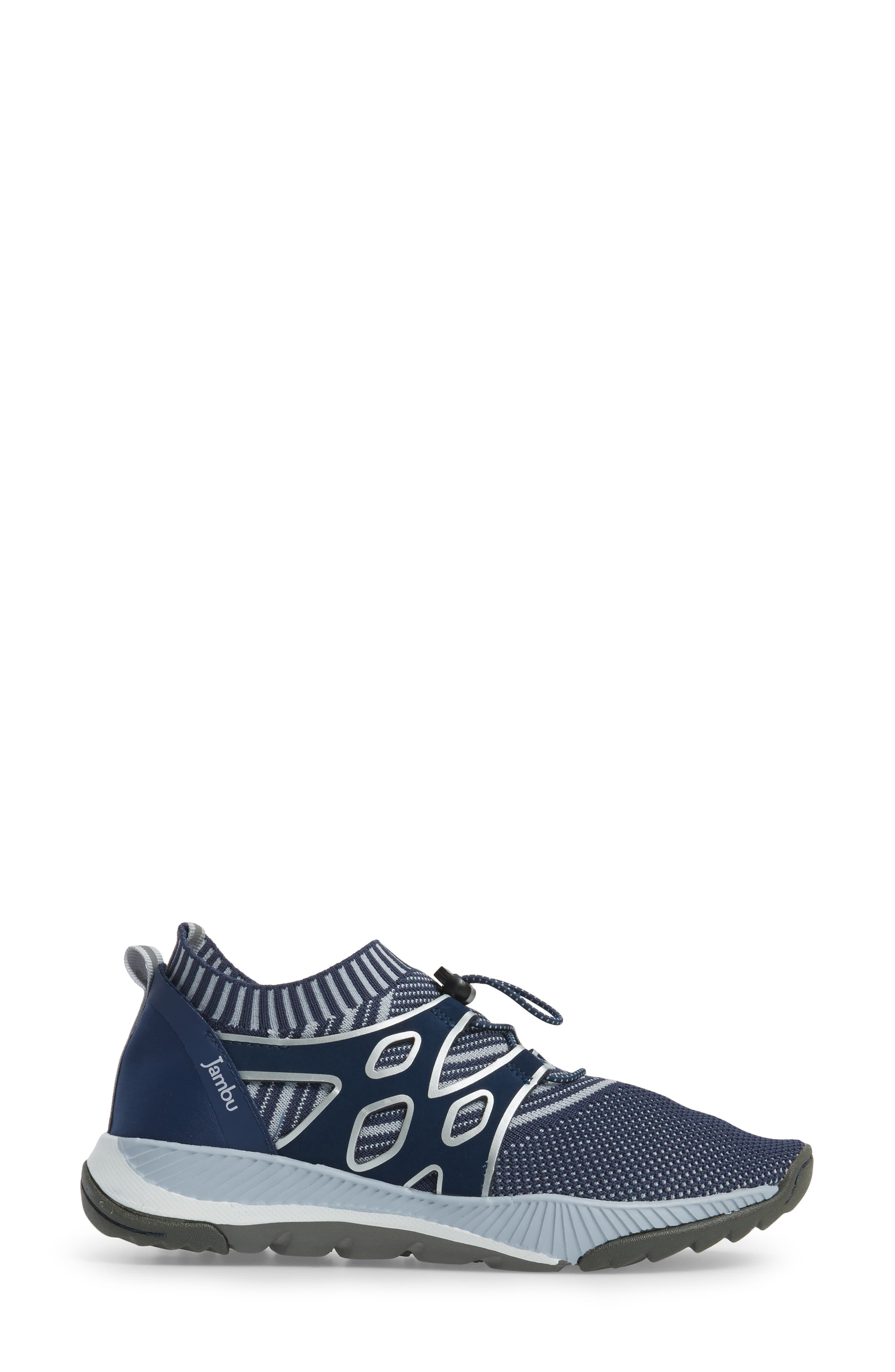 Jackie Sneaker,                             Alternate thumbnail 3, color,                             Navy Fabric