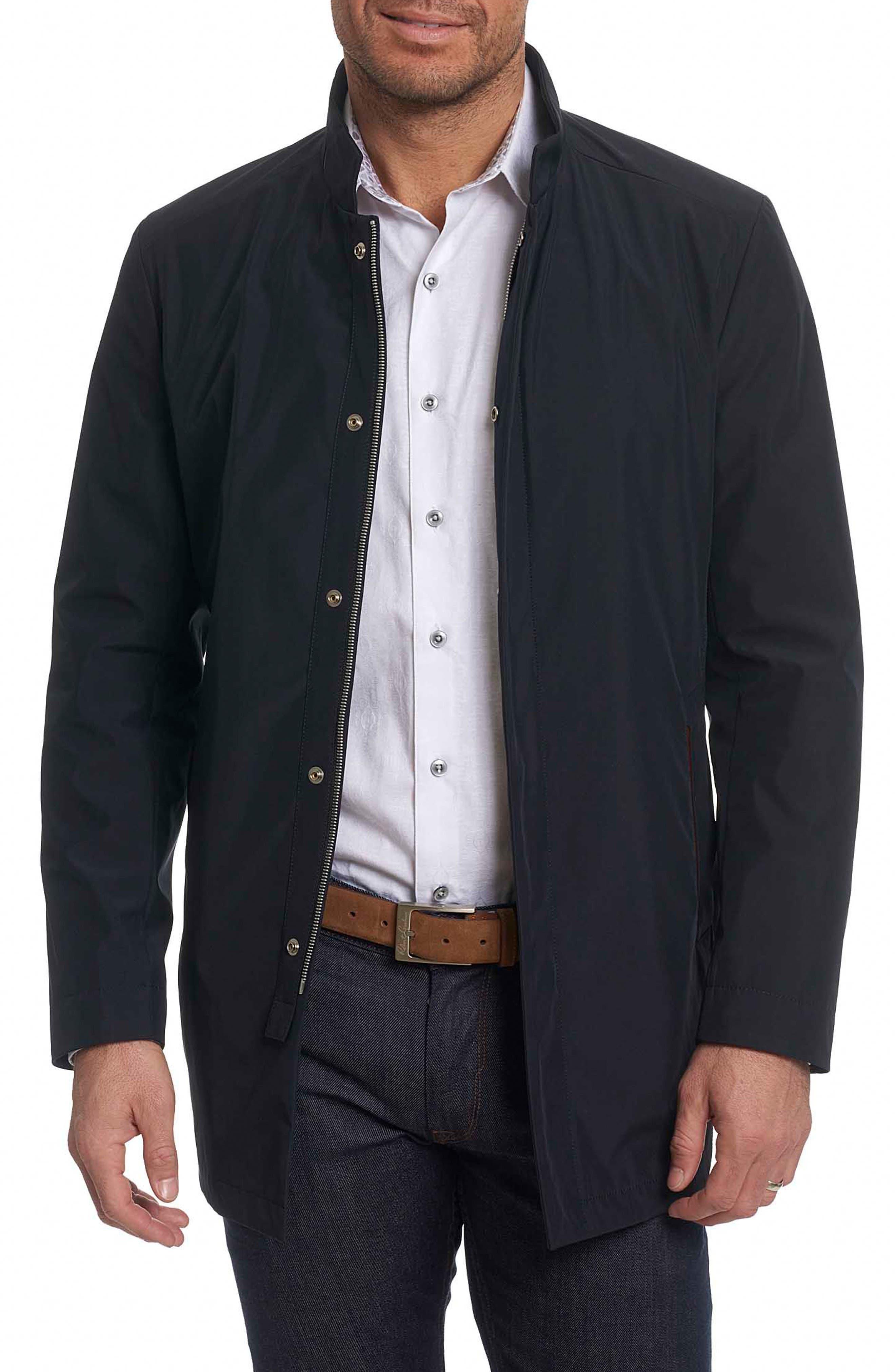Classic Fit Raincoat,                         Main,                         color, Black