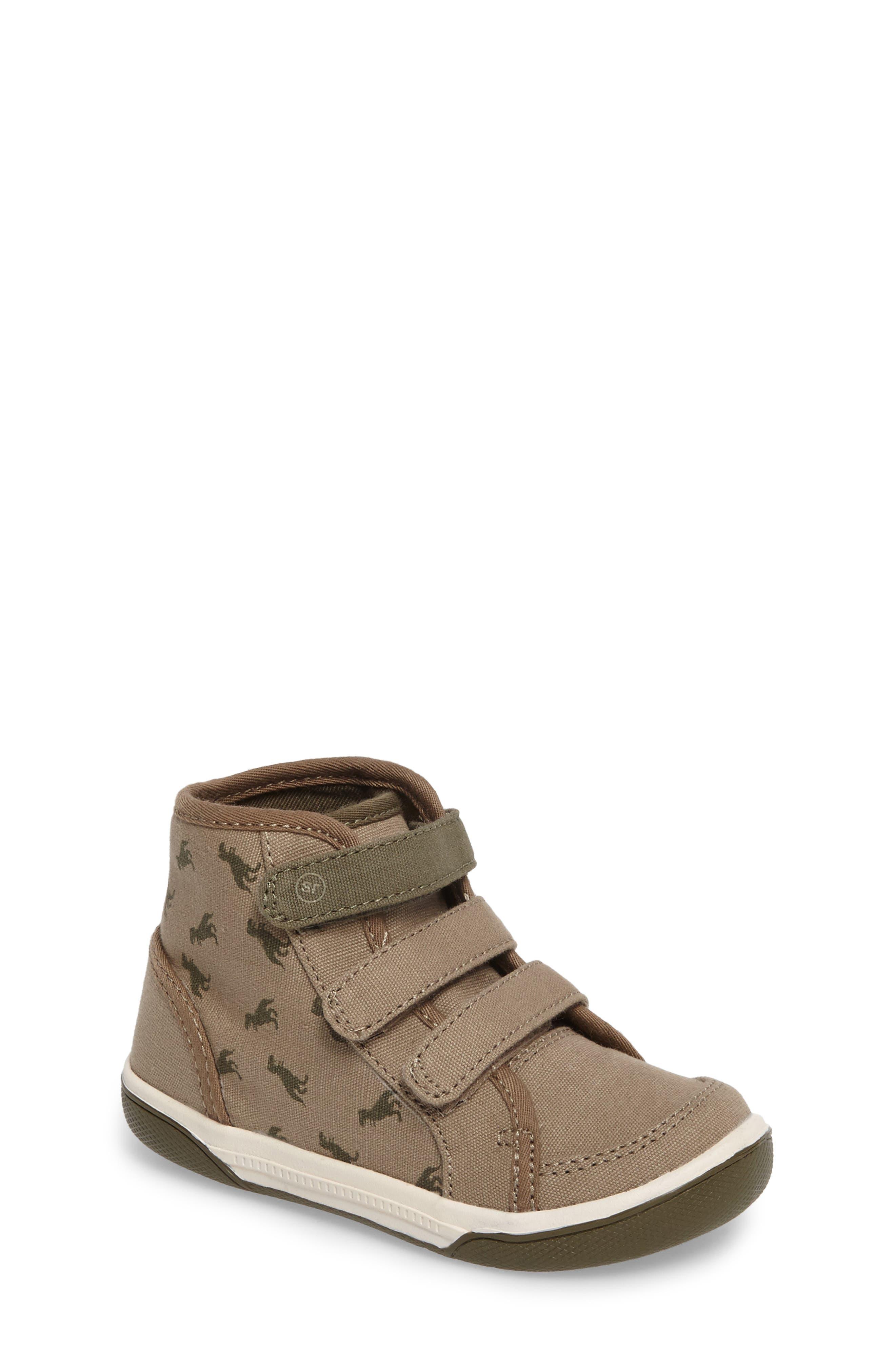 Stride Rite Ellis T-Rex High Top Sneaker (Baby, Walker & Toddler)